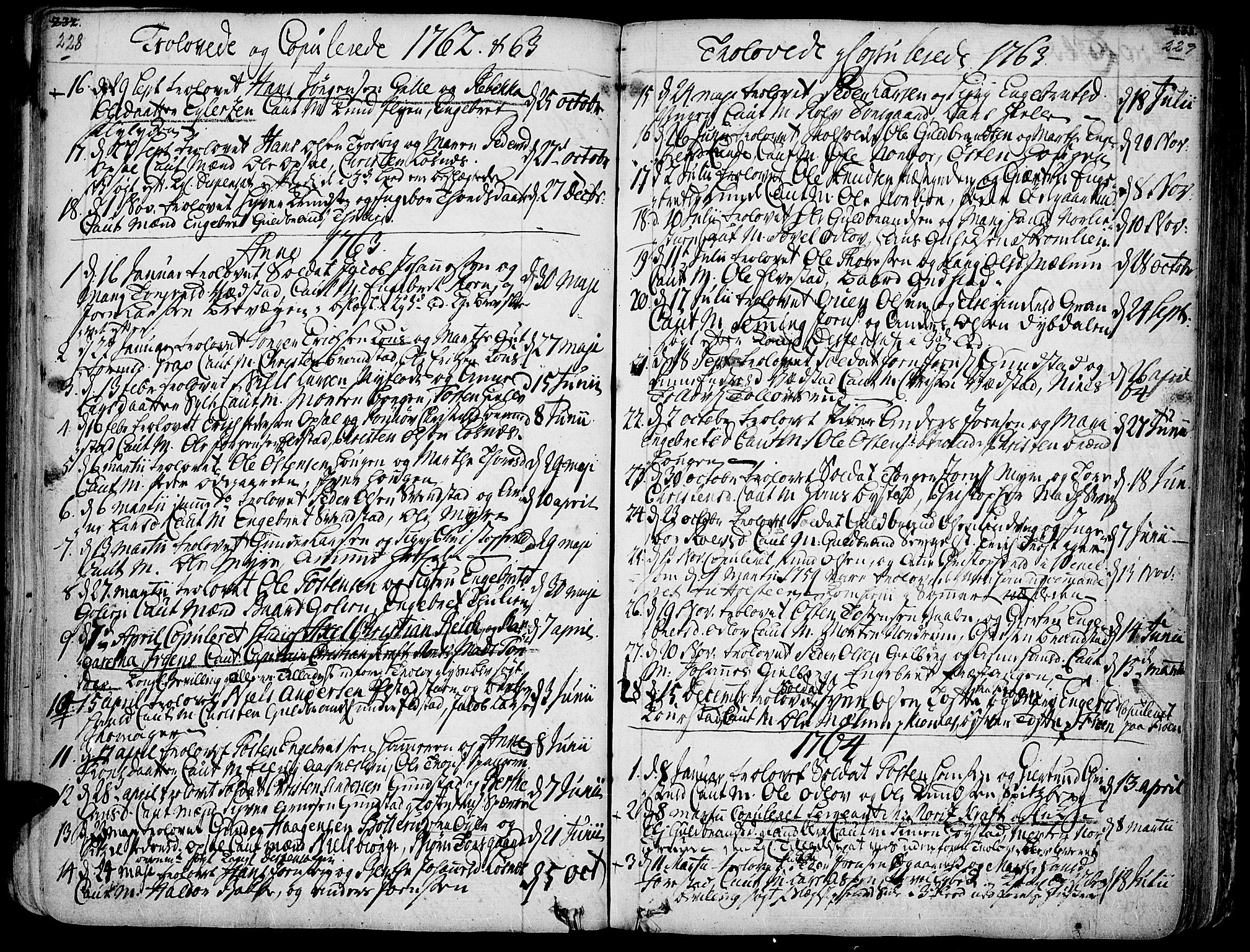 SAH, Ringebu prestekontor, Ministerialbok nr. 2, 1734-1780, s. 228-229