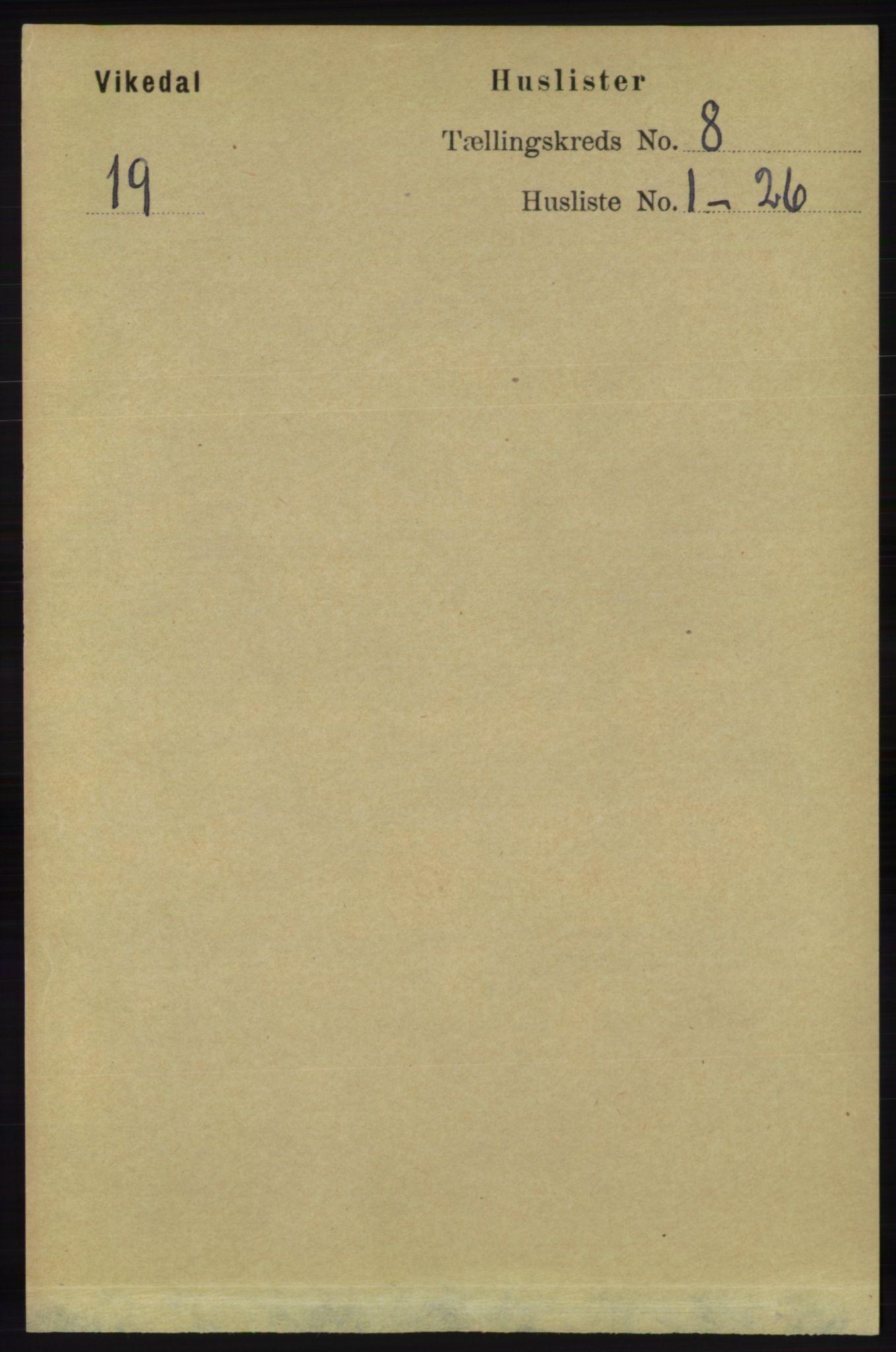 RA, Folketelling 1891 for 1157 Vikedal herred, 1891, s. 2194