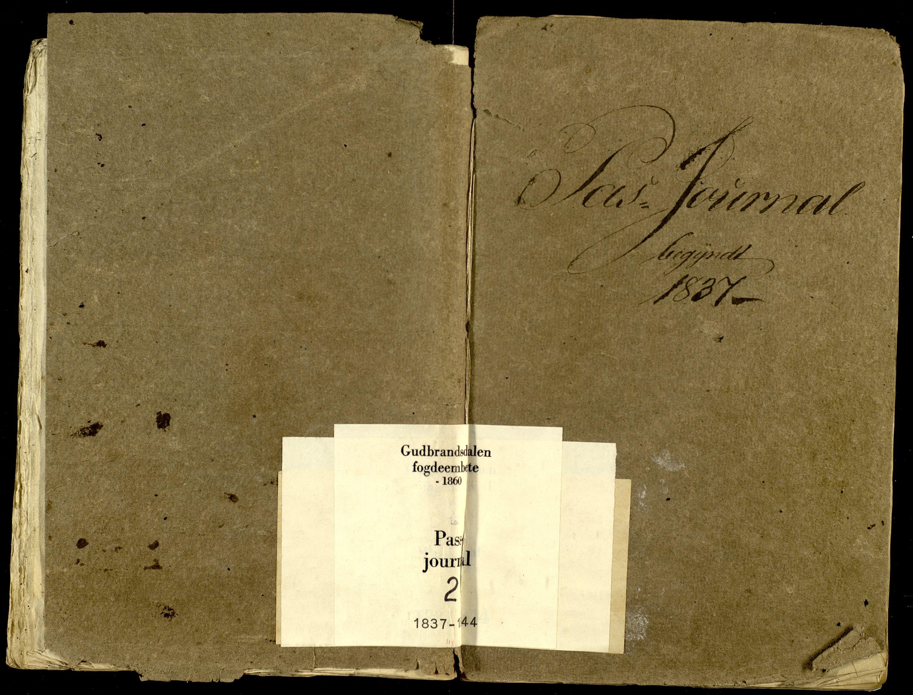 SAH, Gudbrandsdalen fogderi, L/La/L0002: Passjournal, 1837-1844