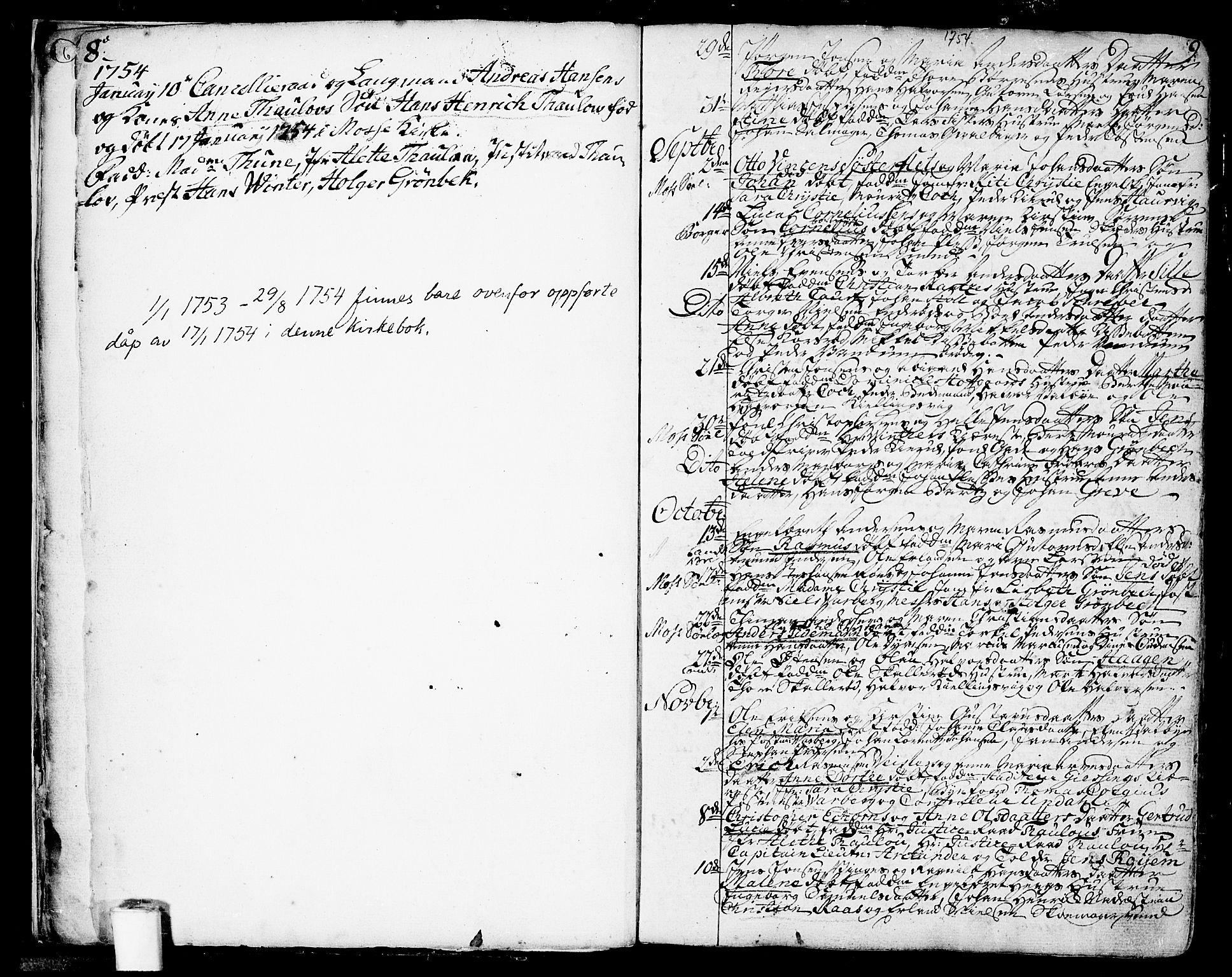 SAO, Moss prestekontor Kirkebøker, F/Fa/Faa/L0002: Ministerialbok nr. I 2, 1753-1779, s. 8-9