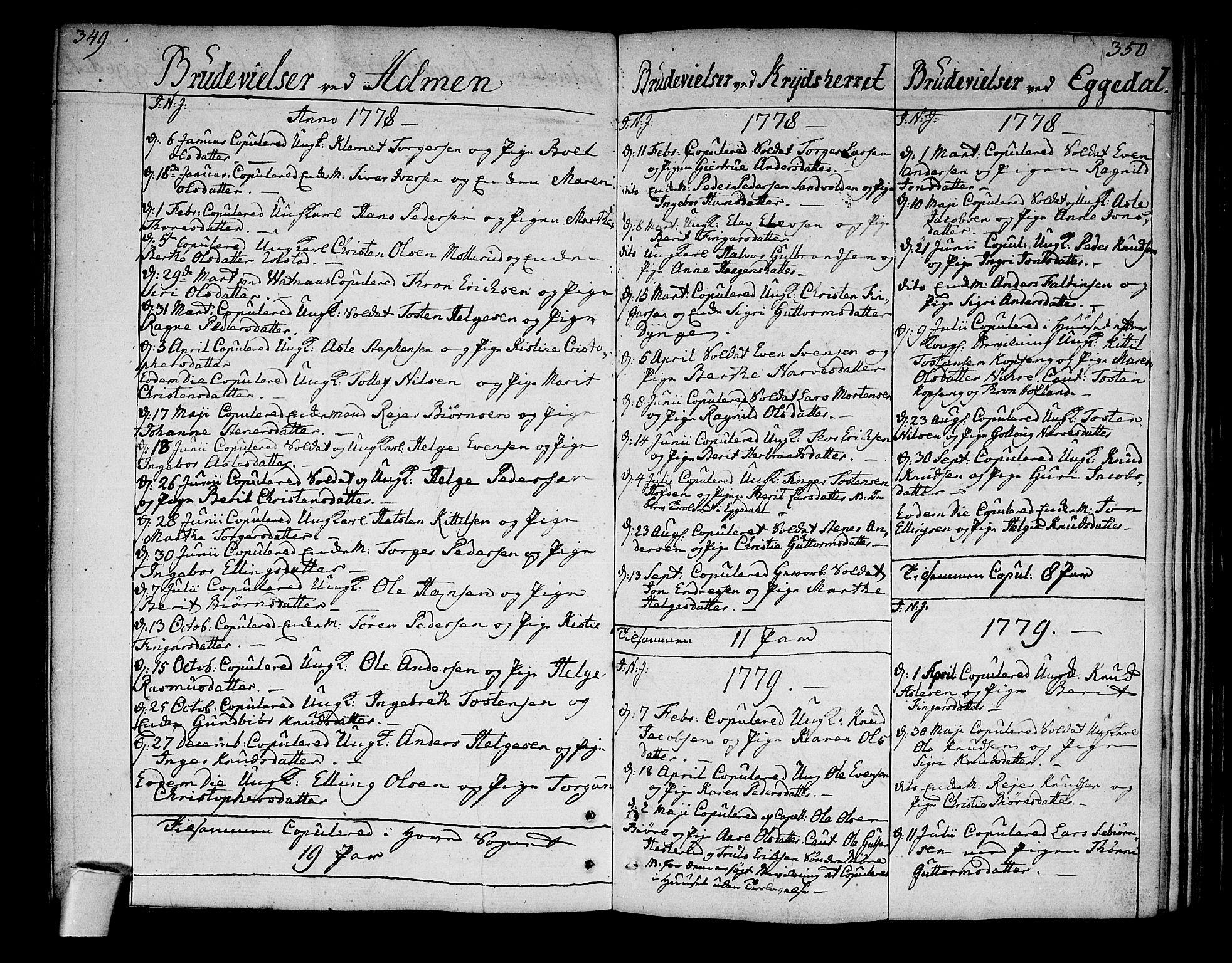SAKO, Sigdal kirkebøker, F/Fa/L0002: Ministerialbok nr. I 2, 1778-1792, s. 349-350
