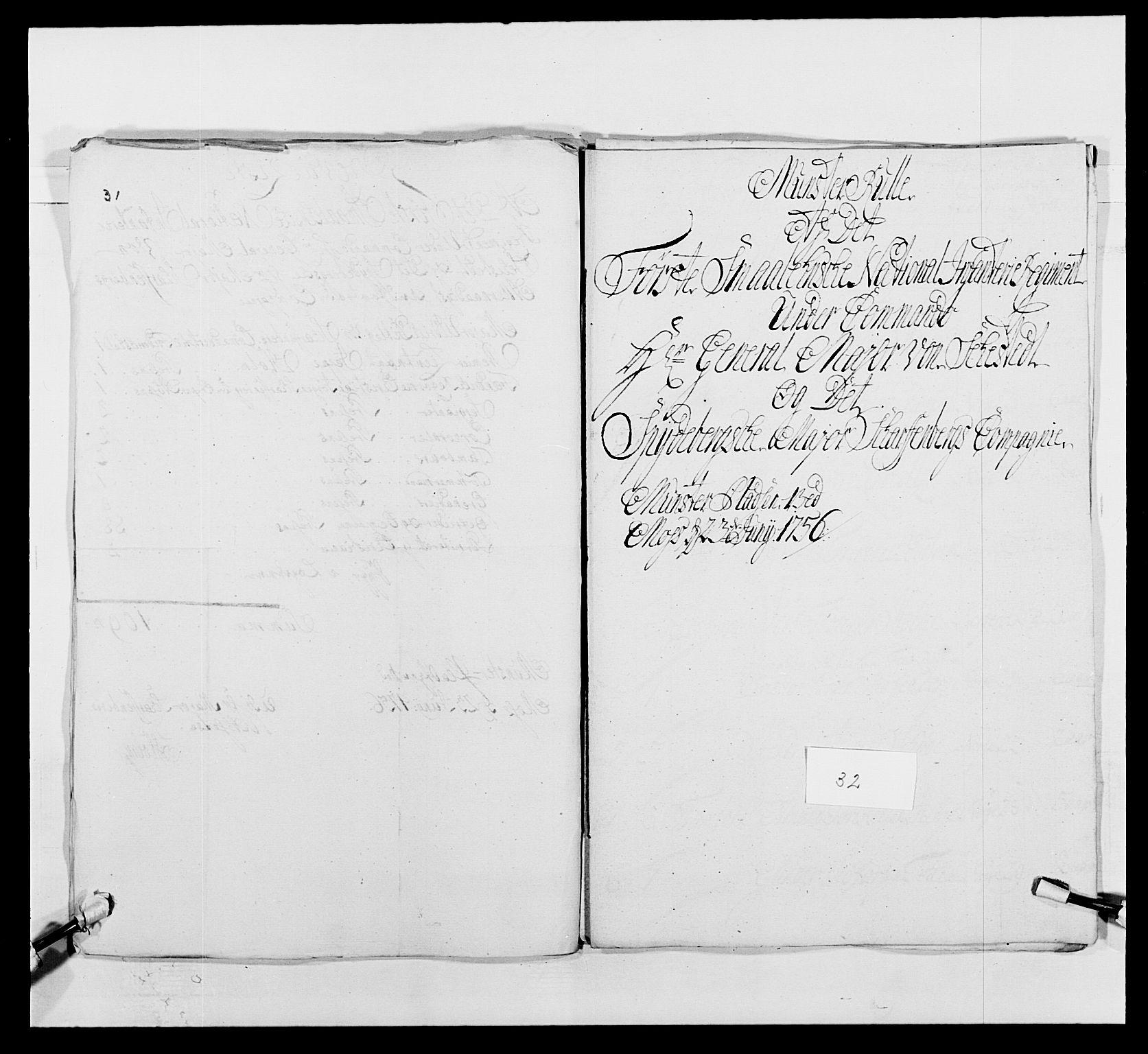 RA, Kommanderende general (KG I) med Det norske krigsdirektorium, E/Ea/L0495: 1. Smålenske regiment, 1732-1763, s. 480