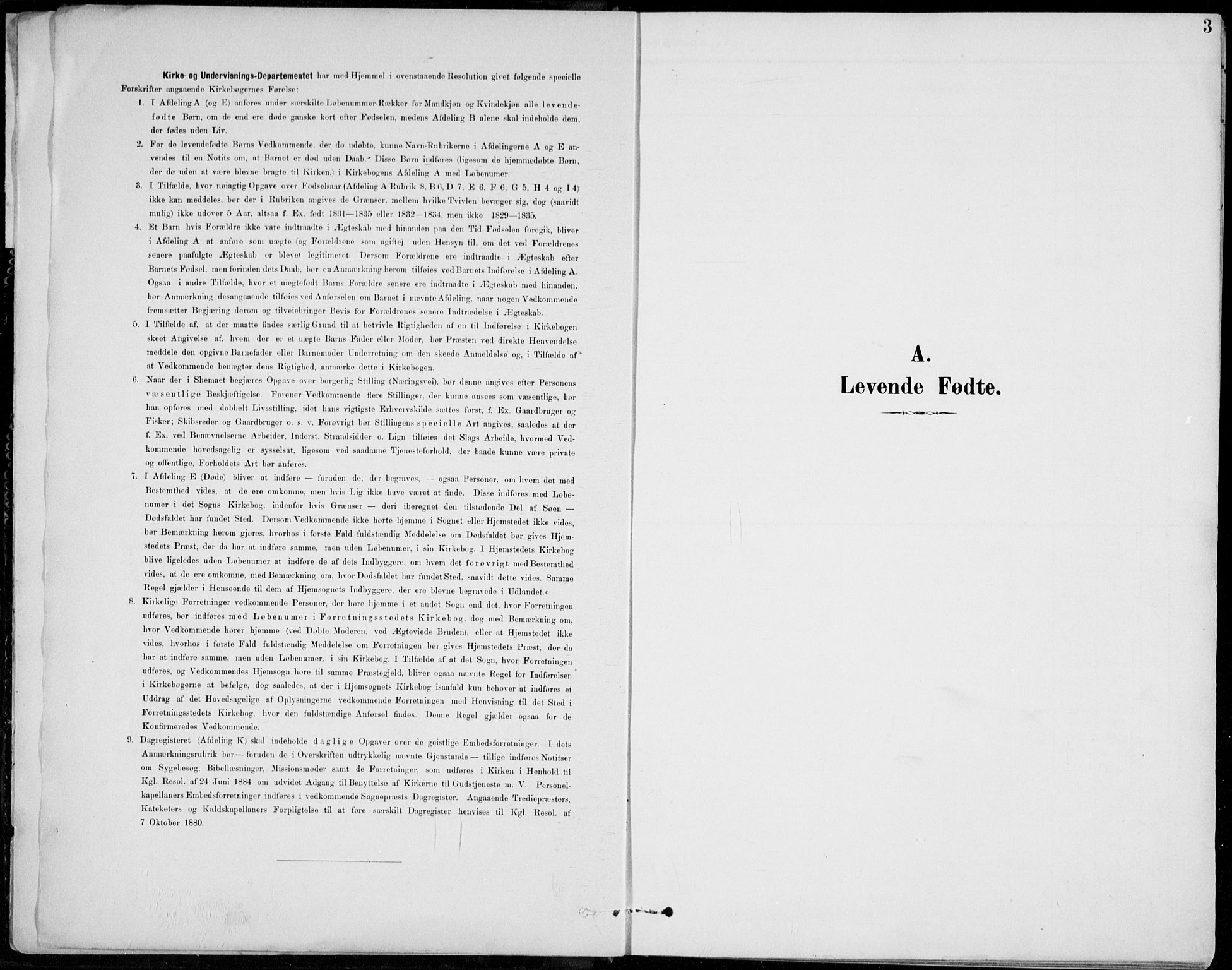 SAH, Vågå prestekontor, Klokkerbok nr. 2, 1894-1939, s. 3