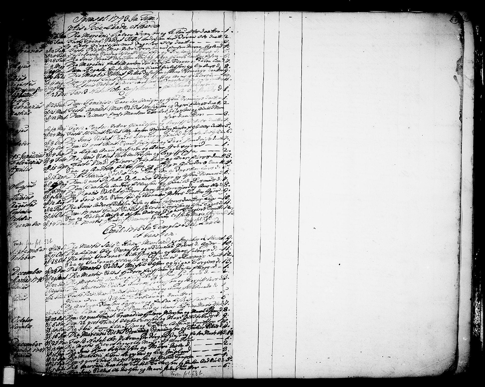 SAKO, Bø kirkebøker, F/Fa/L0003: Ministerialbok nr. 3, 1733-1748, s. 56
