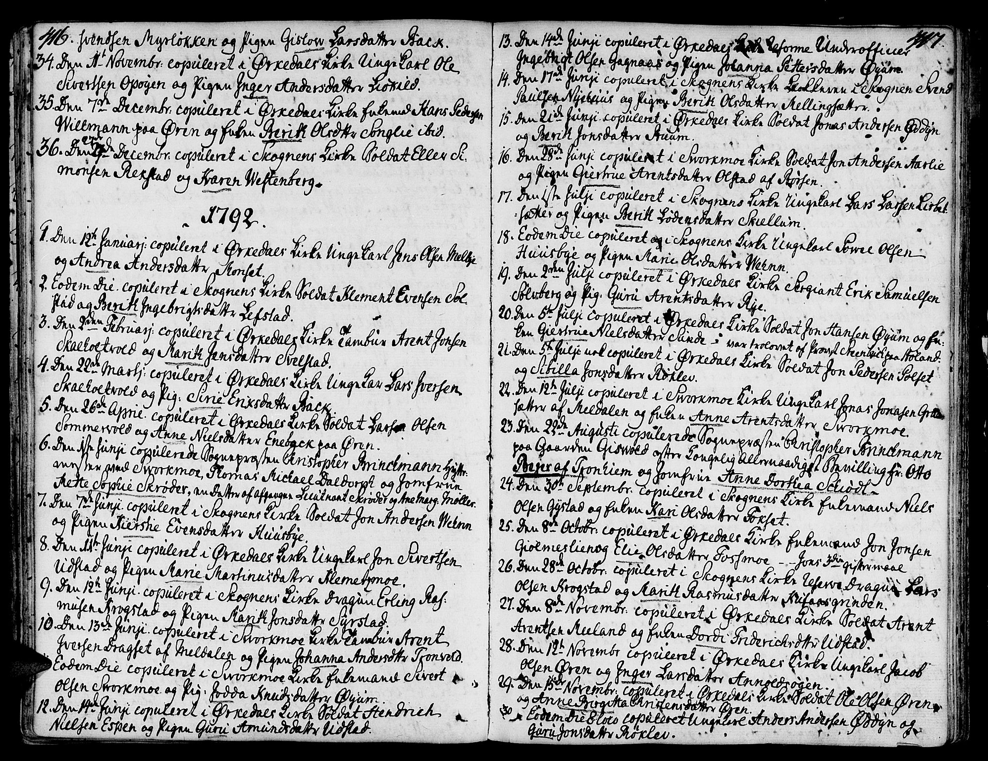 SAT, Ministerialprotokoller, klokkerbøker og fødselsregistre - Sør-Trøndelag, 668/L0802: Ministerialbok nr. 668A02, 1776-1799, s. 416-417