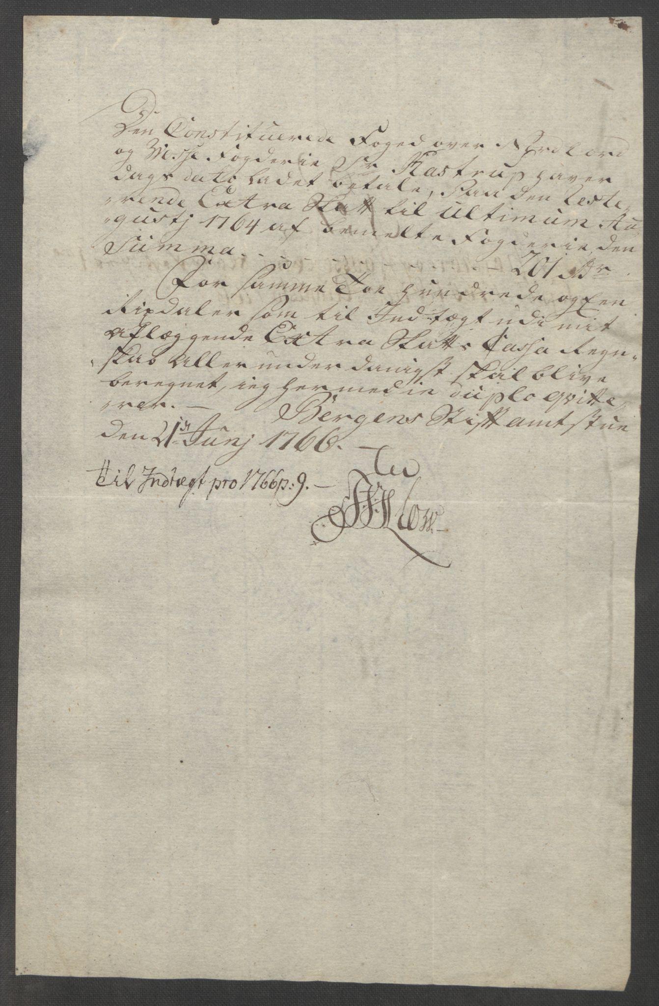 RA, Rentekammeret inntil 1814, Reviderte regnskaper, Fogderegnskap, R51/L3303: Ekstraskatten Nordhordland og Voss, 1762-1772, s. 128