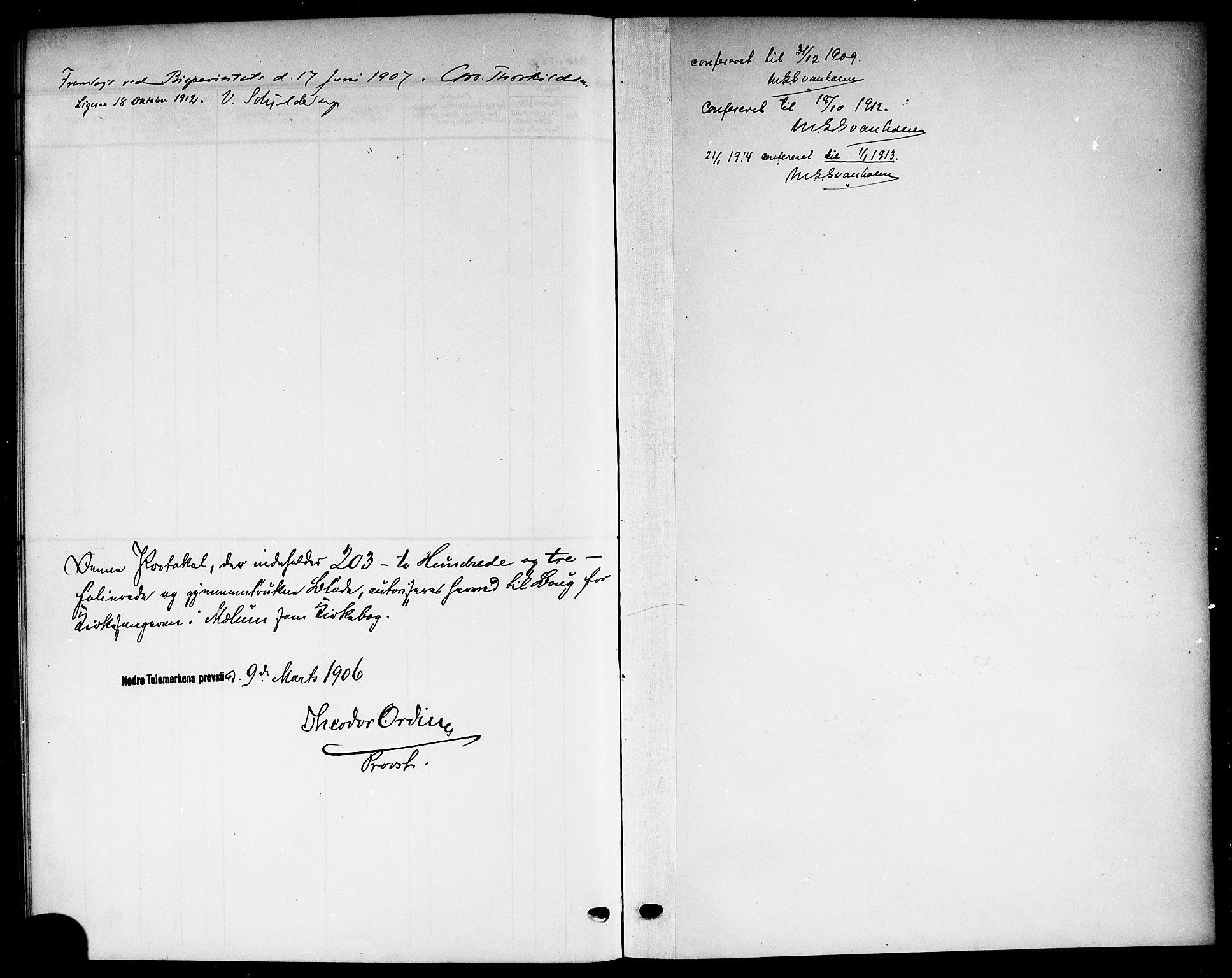 SAKO, Solum kirkebøker, G/Gb/L0005: Klokkerbok nr. II 5, 1905-1914