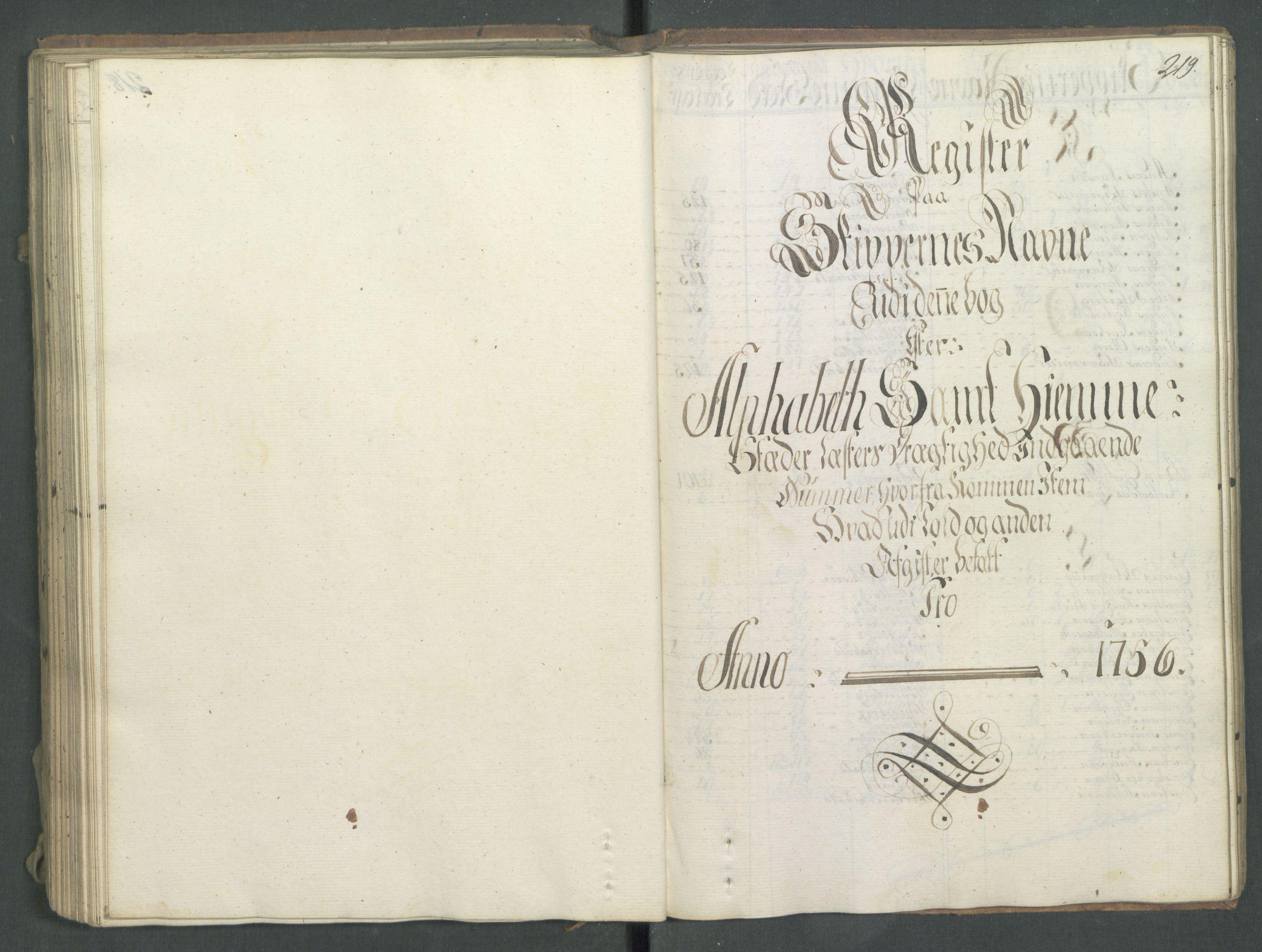 RA, Generaltollkammeret, tollregnskaper, R01/L0028: Tollregnskaper Fredrikshald, 1756, s. 219