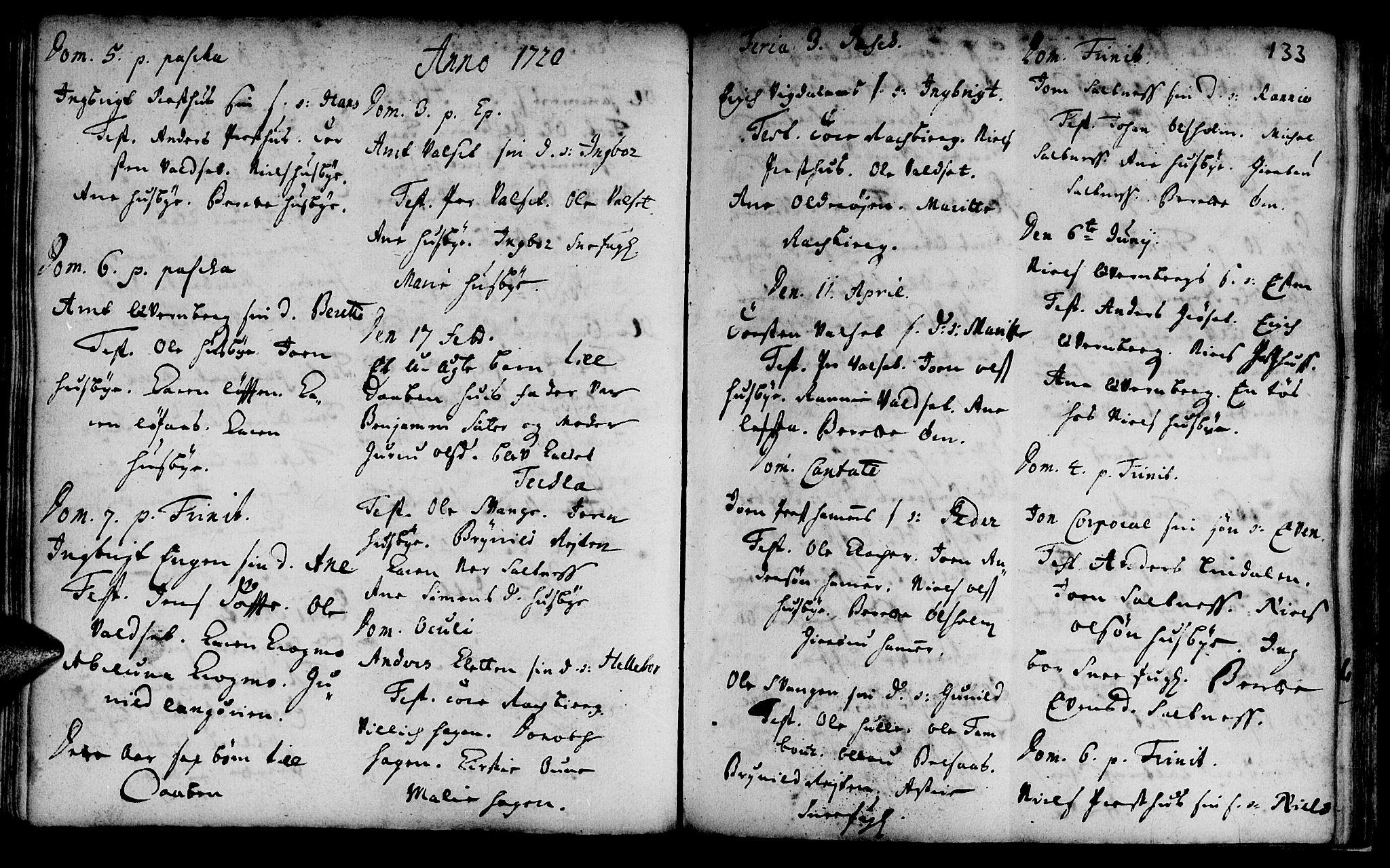 SAT, Ministerialprotokoller, klokkerbøker og fødselsregistre - Sør-Trøndelag, 666/L0783: Ministerialbok nr. 666A01, 1702-1753, s. 133