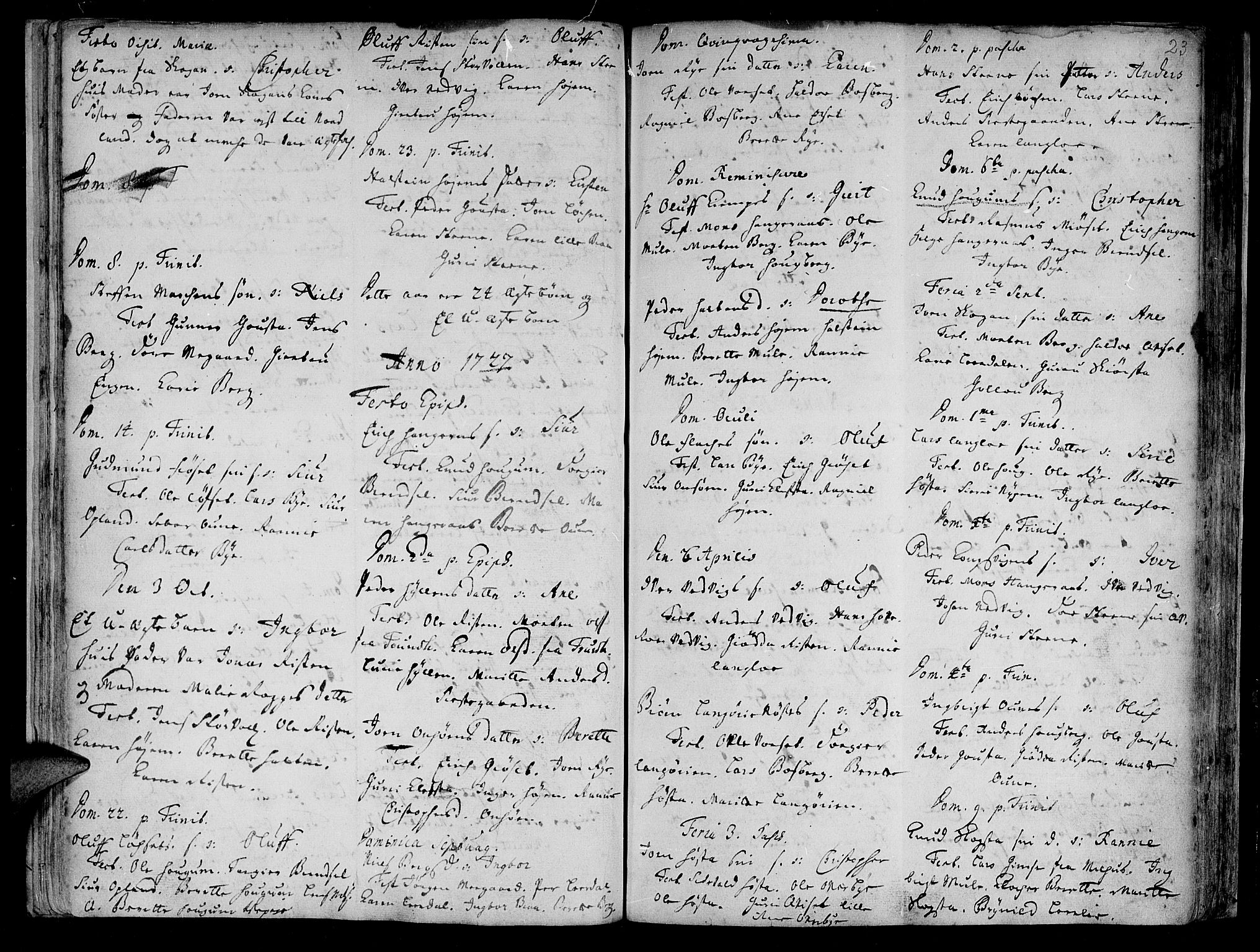 SAT, Ministerialprotokoller, klokkerbøker og fødselsregistre - Sør-Trøndelag, 612/L0368: Ministerialbok nr. 612A02, 1702-1753, s. 23