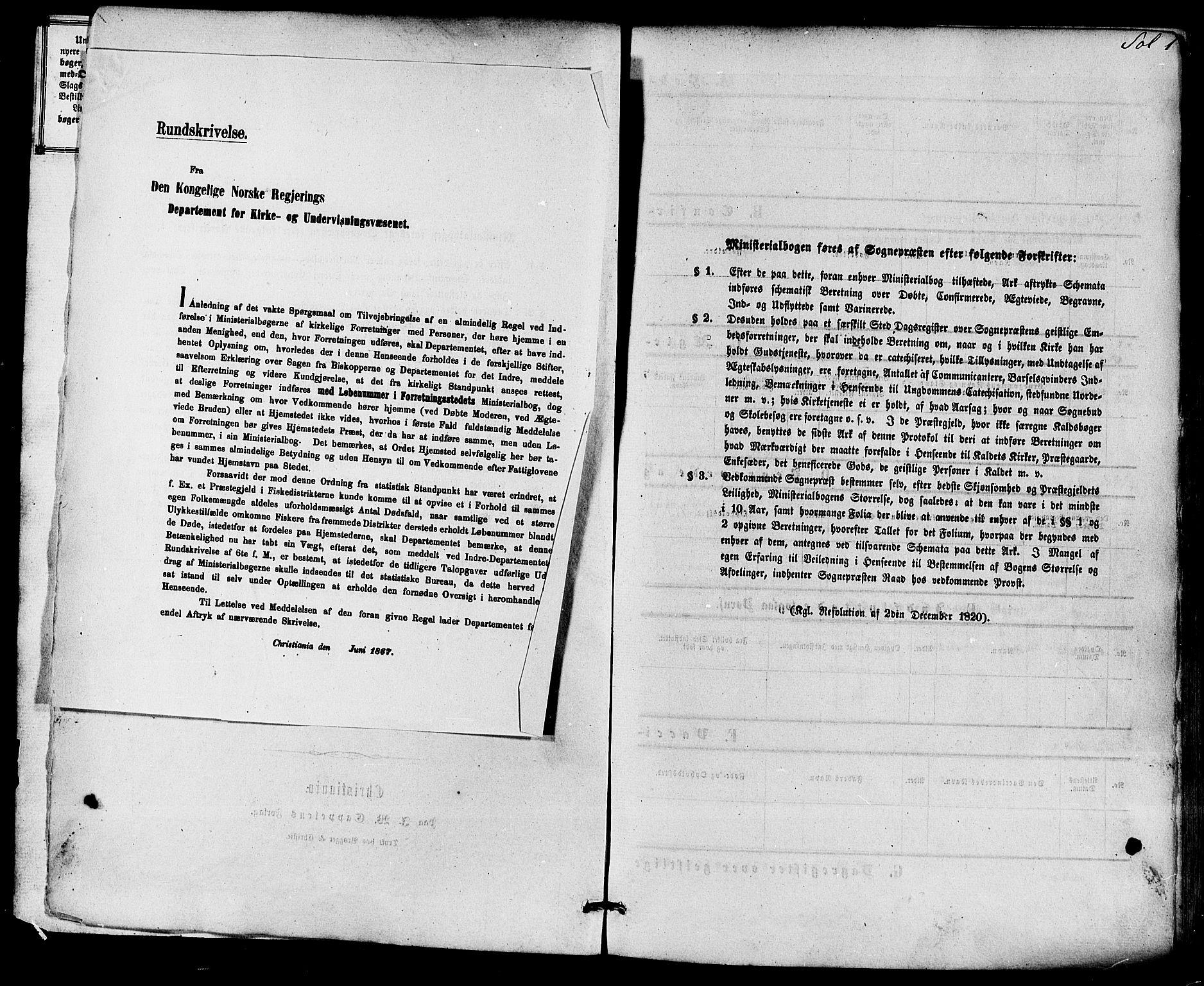SAKO, Solum kirkebøker, F/Fa/L0008: Ministerialbok nr. I 8, 1865-1876, s. 1