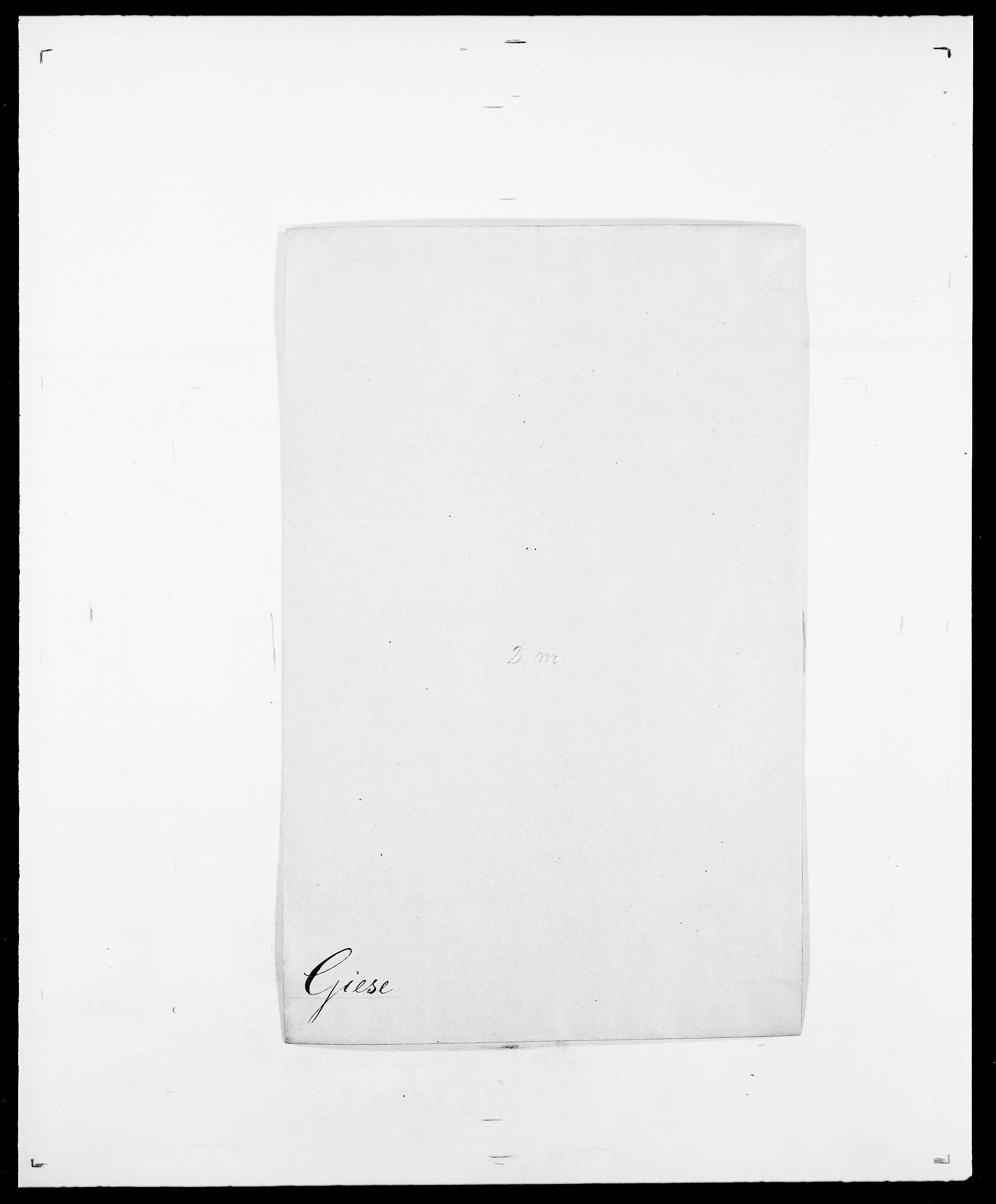 SAO, Delgobe, Charles Antoine - samling, D/Da/L0014: Giebdhausen - Grip, s. 18