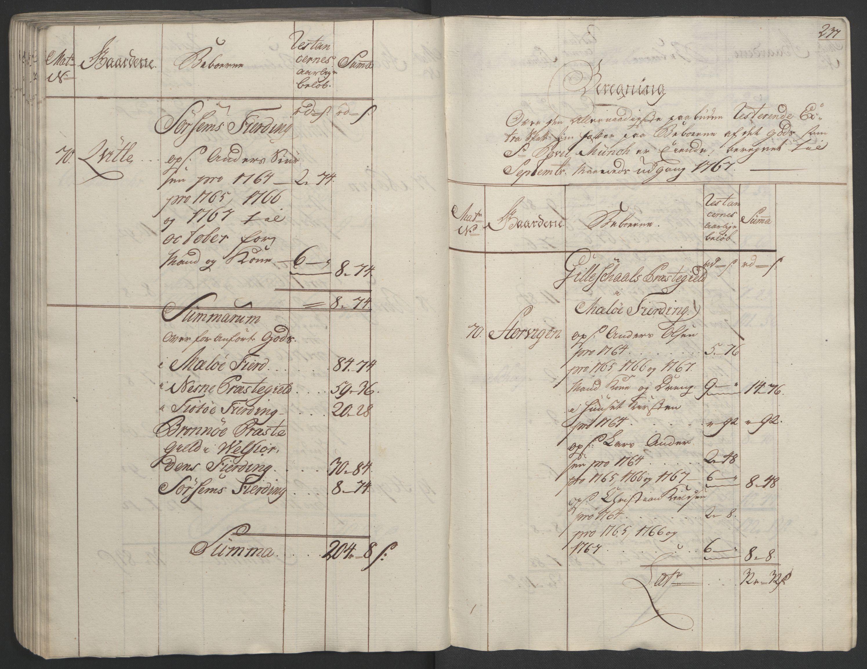 RA, Rentekammeret inntil 1814, Realistisk ordnet avdeling, Ol/L0023: [Gg 10]: Ekstraskatten, 23.09.1762. Helgeland (restanseregister), 1767-1772, s. 233