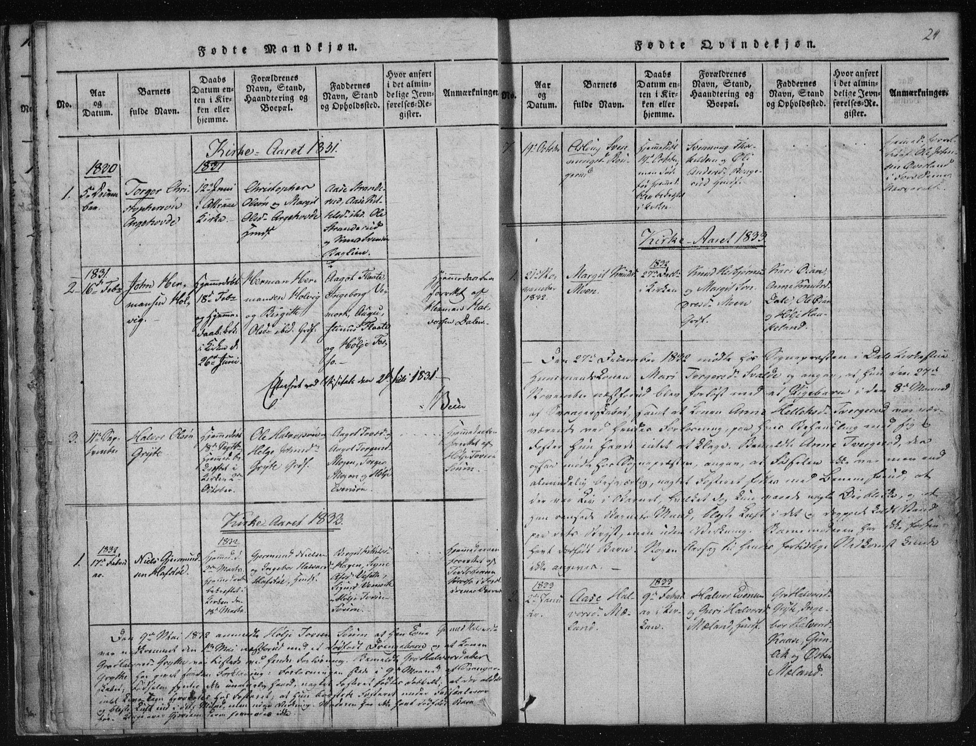 SAKO, Tinn kirkebøker, F/Fc/L0001: Ministerialbok nr. III 1, 1815-1843, s. 24