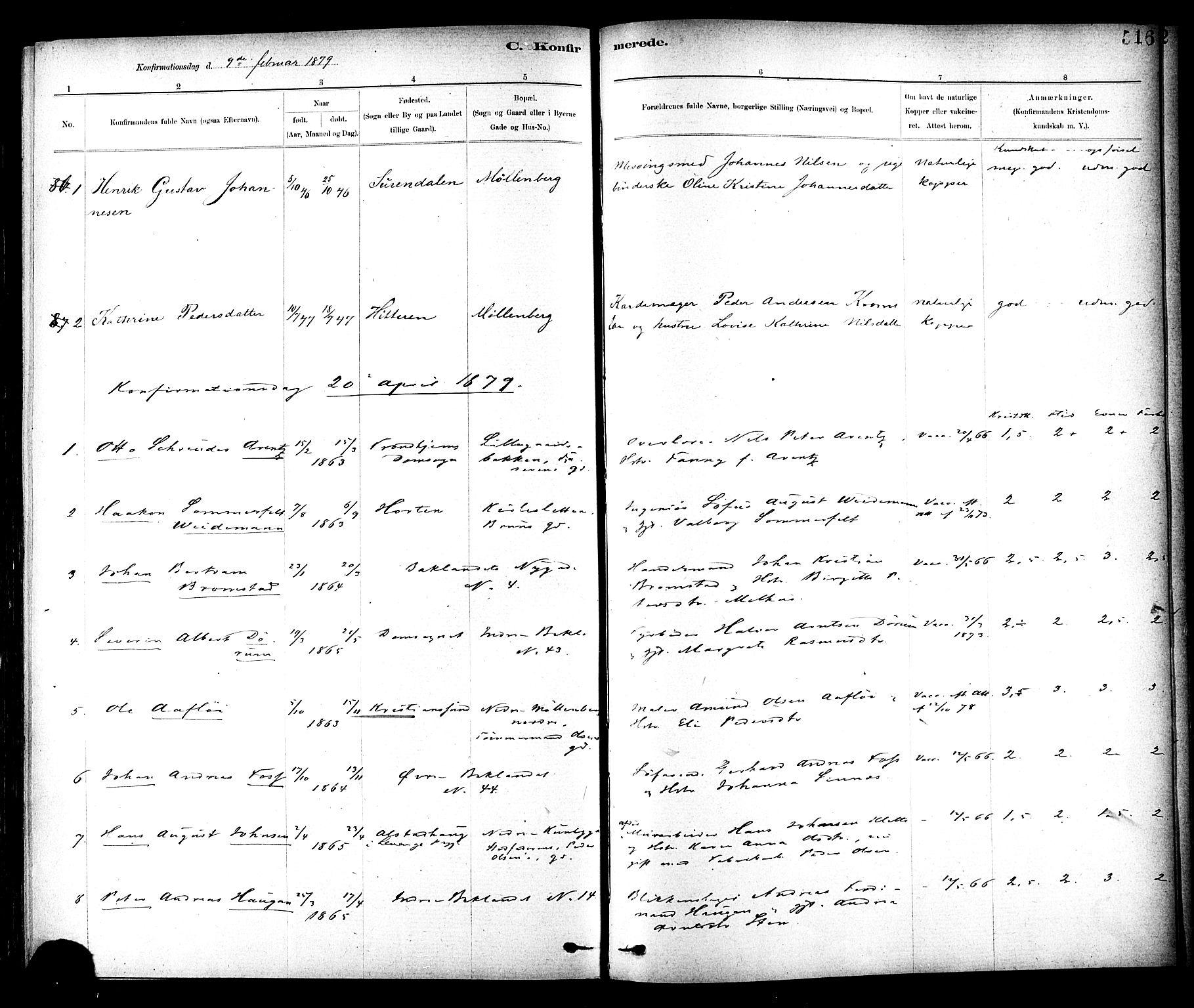 SAT, Ministerialprotokoller, klokkerbøker og fødselsregistre - Sør-Trøndelag, 604/L0188: Ministerialbok nr. 604A09, 1878-1892, s. 516