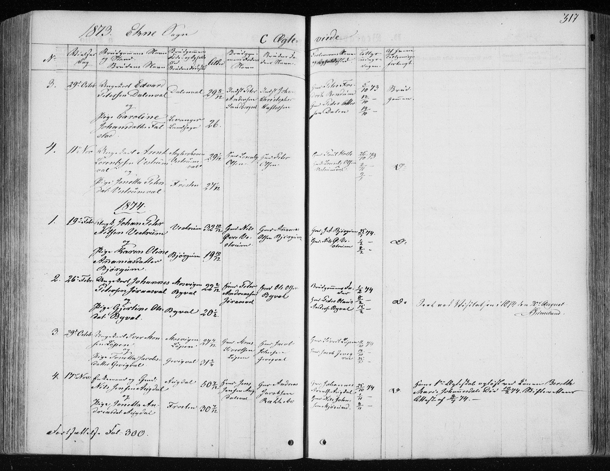SAT, Ministerialprotokoller, klokkerbøker og fødselsregistre - Nord-Trøndelag, 717/L0158: Ministerialbok nr. 717A08 /2, 1863-1877, s. 317