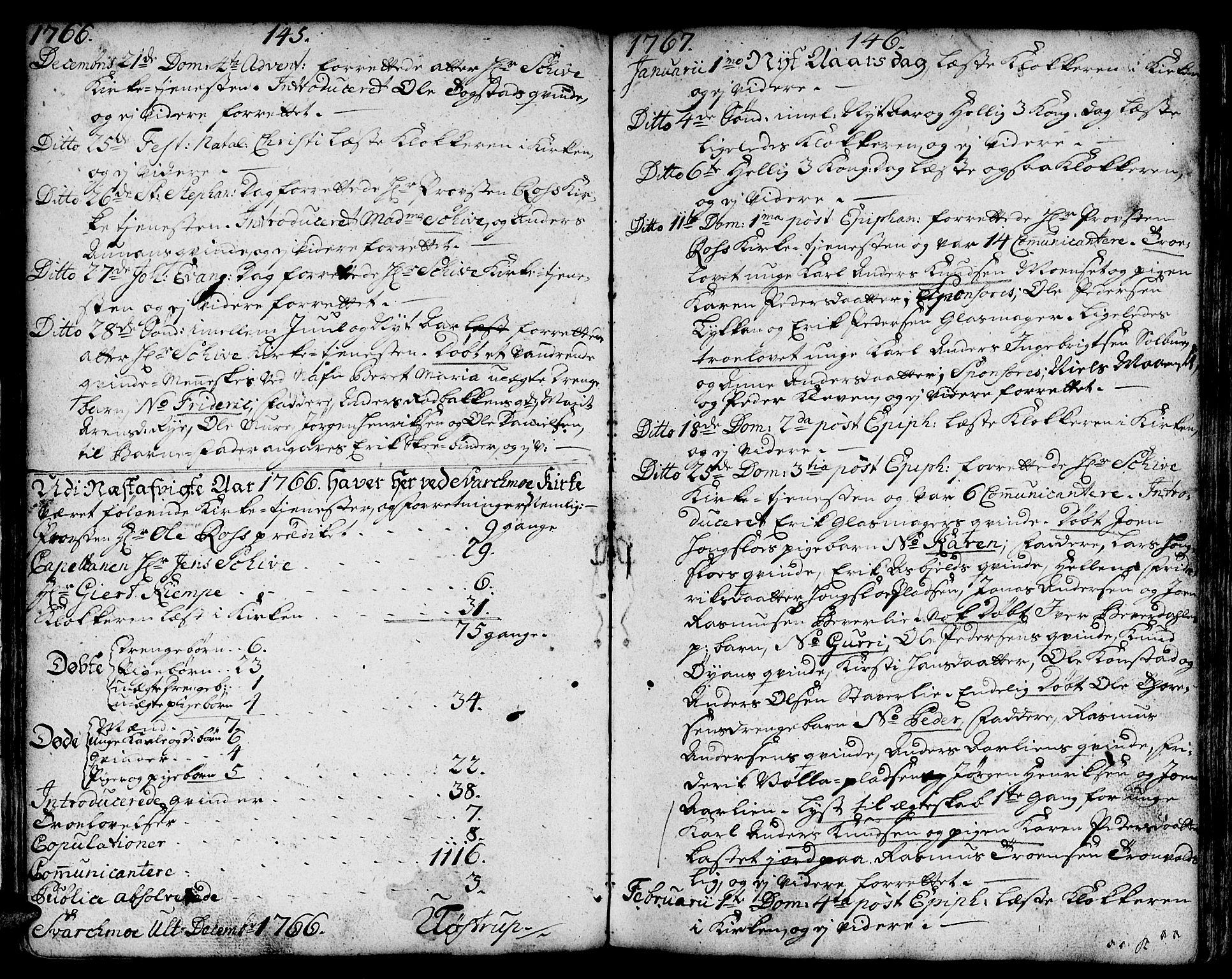 SAT, Ministerialprotokoller, klokkerbøker og fødselsregistre - Sør-Trøndelag, 671/L0840: Ministerialbok nr. 671A02, 1756-1794, s. 145-146