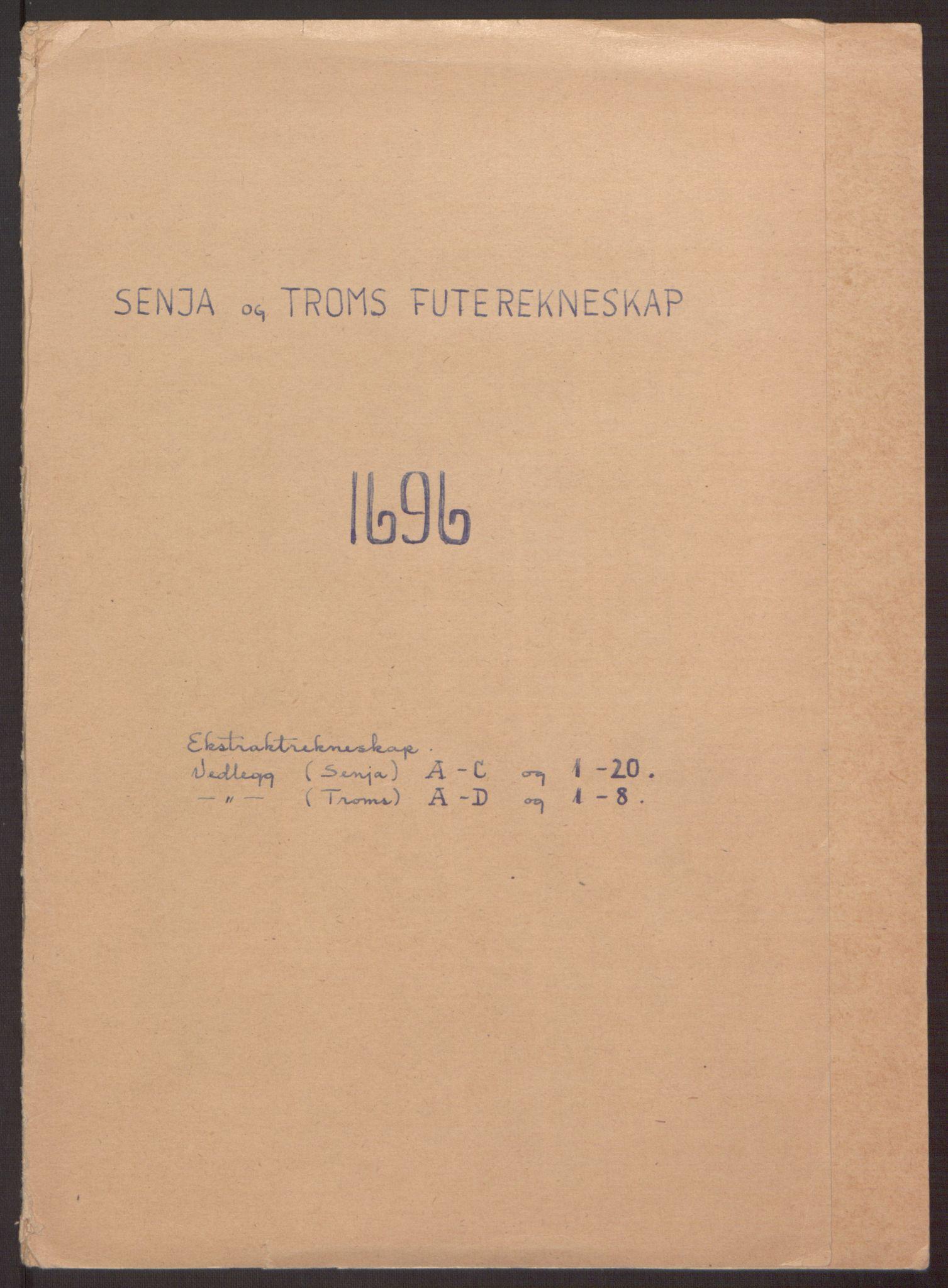 RA, Rentekammeret inntil 1814, Reviderte regnskaper, Fogderegnskap, R68/L4753: Fogderegnskap Senja og Troms, 1694-1696, s. 227