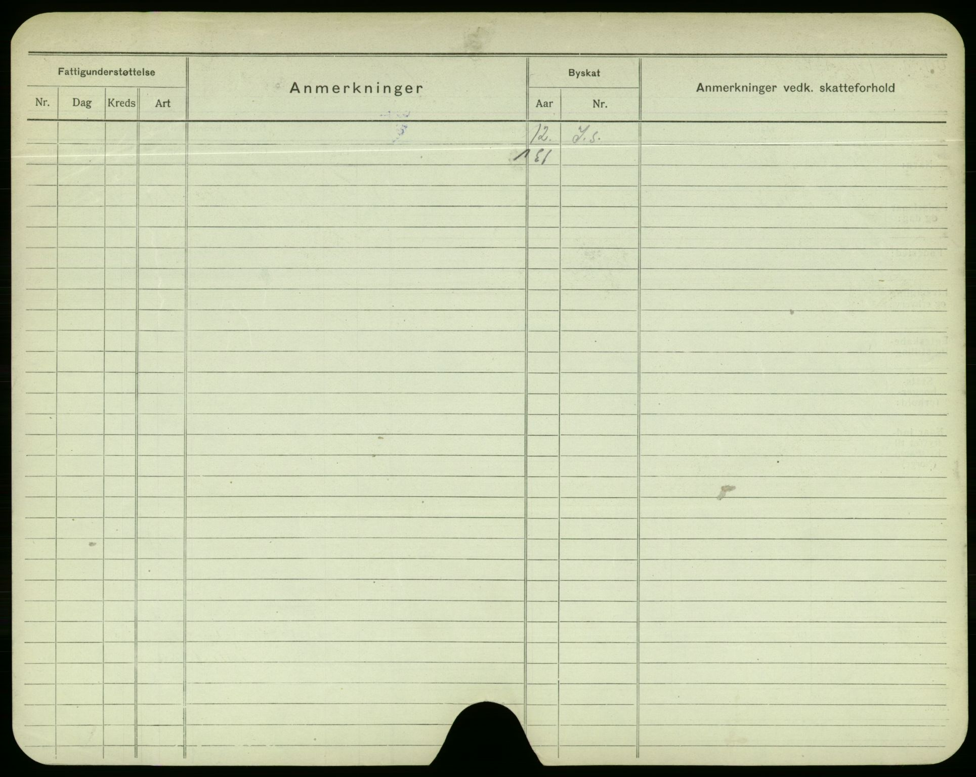 SAO, Oslo folkeregister, Registerkort, F/Fa/Fac/L0003: Menn, 1906-1914, s. 500b