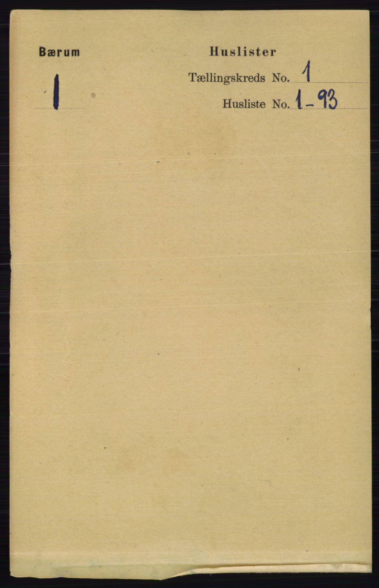 RA, Folketelling 1891 for 0219 Bærum herred, 1891, s. 41