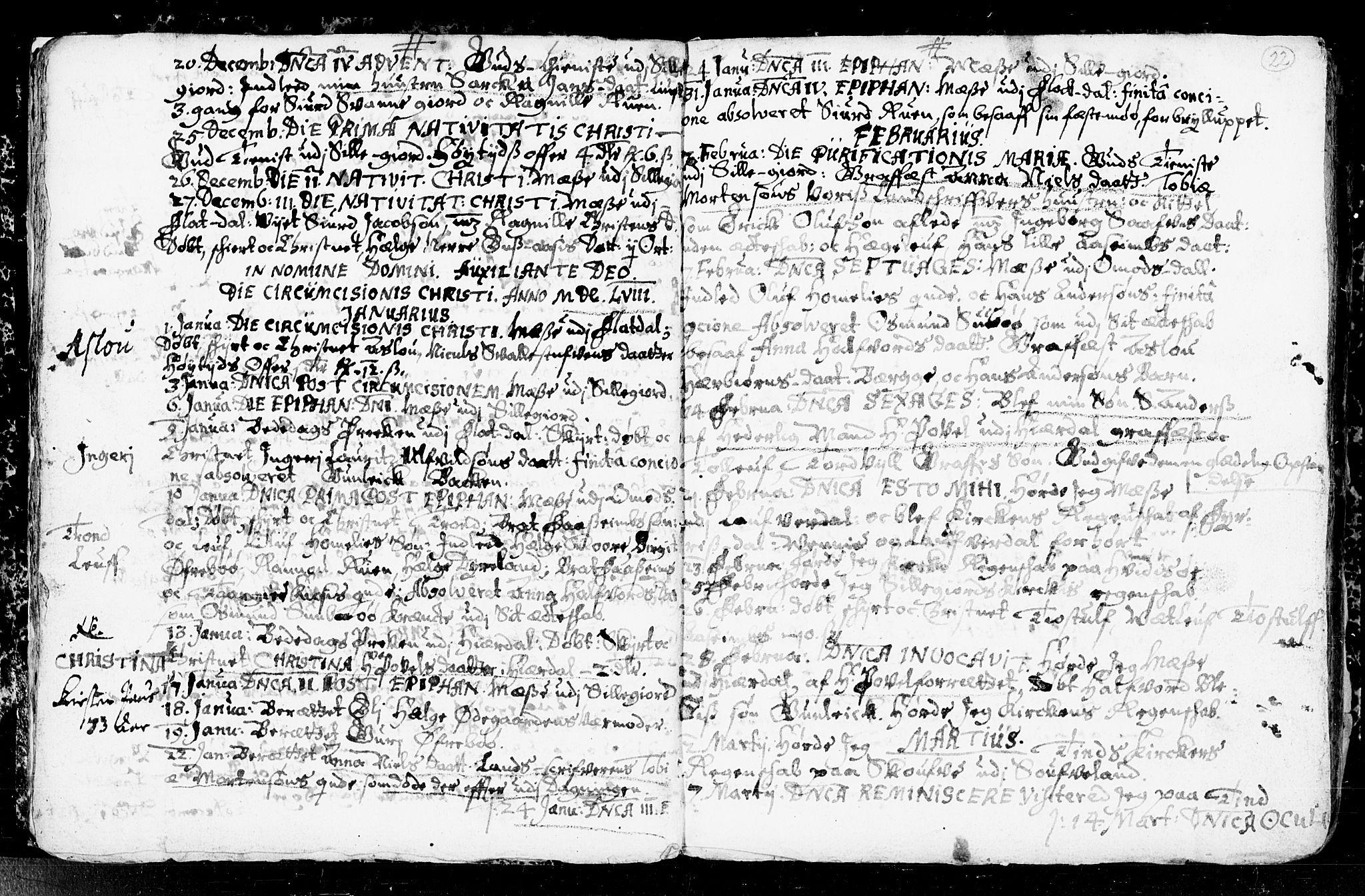 SAKO, Seljord kirkebøker, F/Fa/L0001: Ministerialbok nr. I 1, 1654-1686, s. 22
