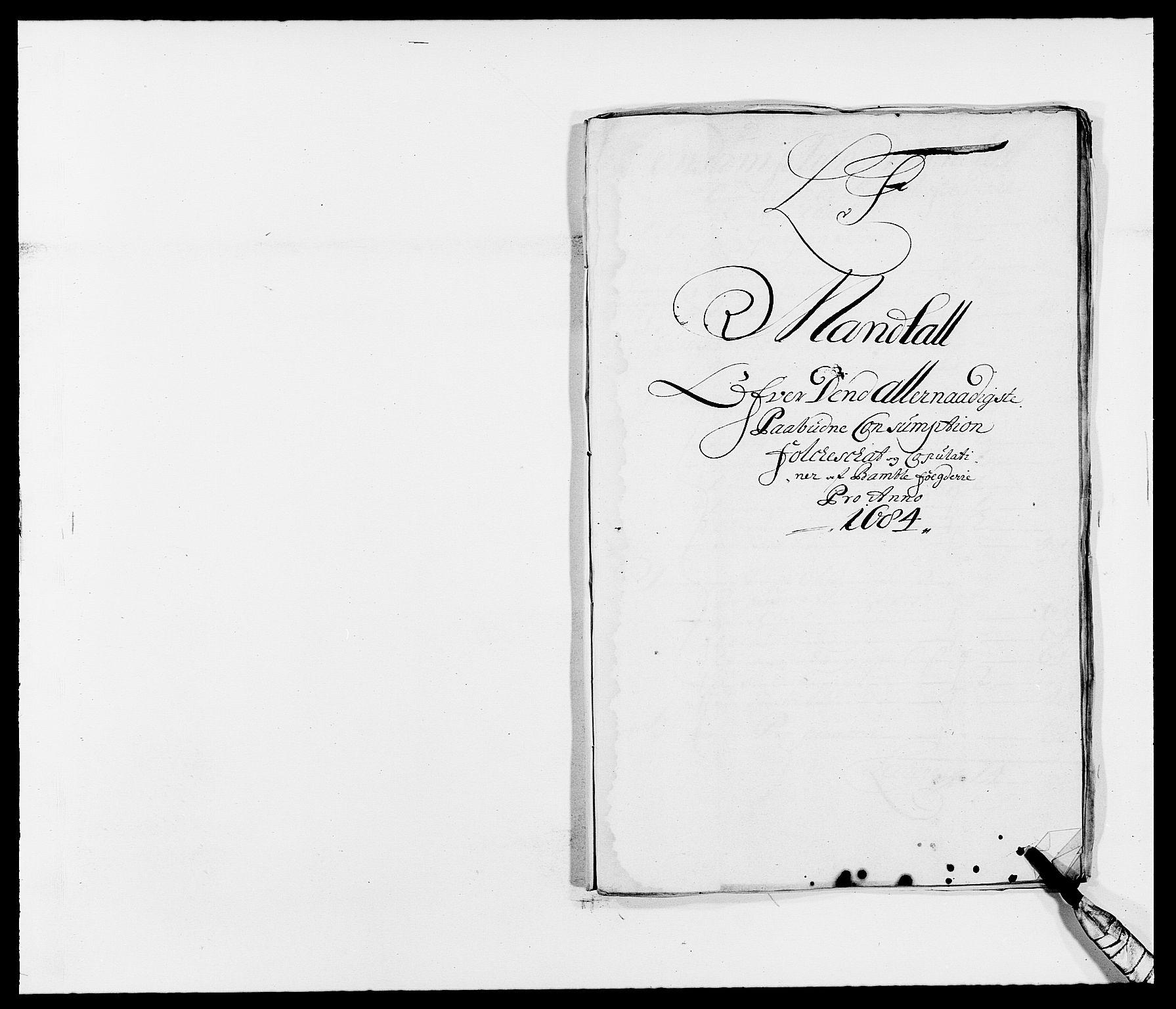 RA, Rentekammeret inntil 1814, Reviderte regnskaper, Fogderegnskap, R34/L2047: Fogderegnskap Bamble, 1684, s. 73