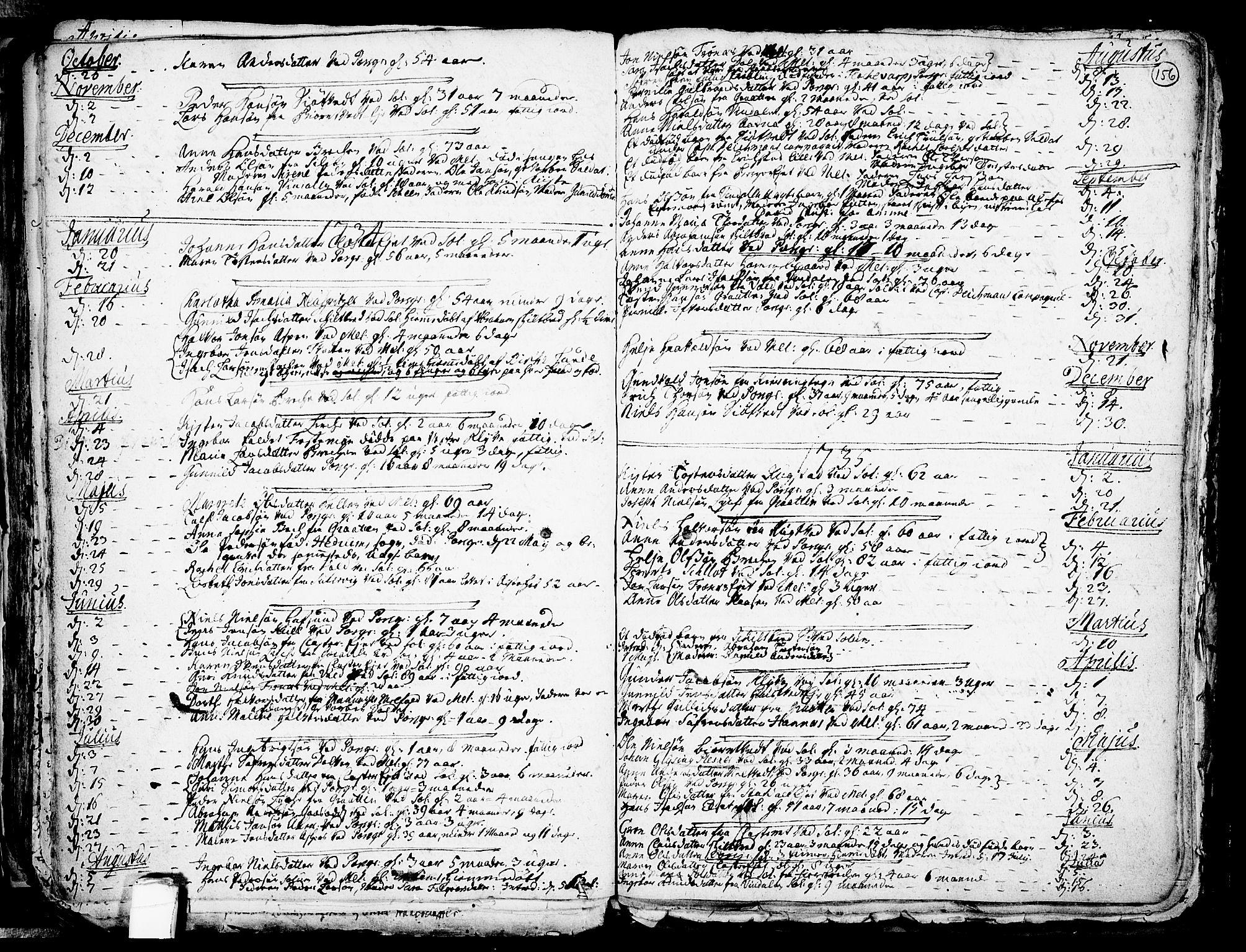 SAKO, Solum kirkebøker, F/Fa/L0002: Ministerialbok nr. I 2, 1713-1761, s. 156