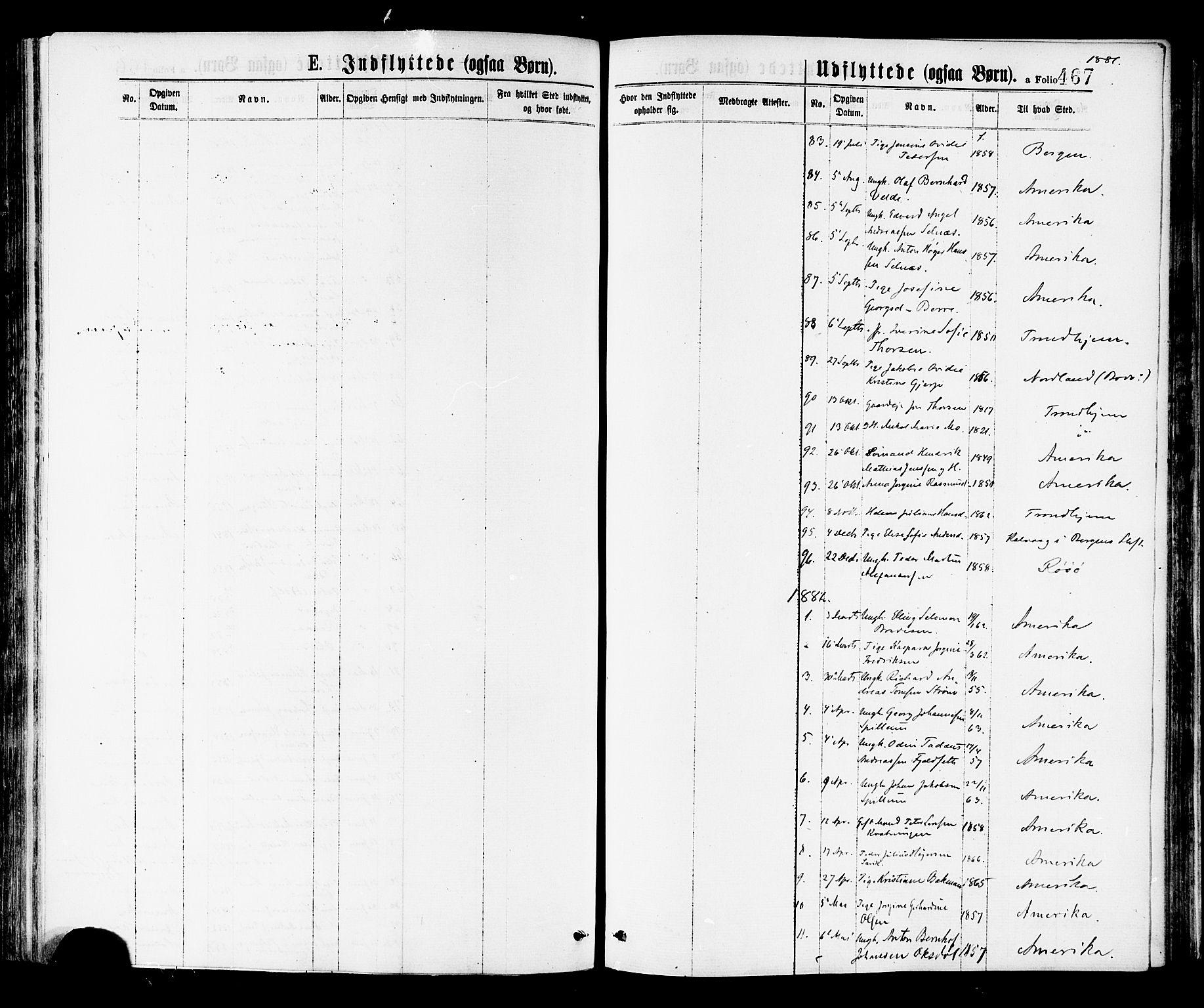 SAT, Ministerialprotokoller, klokkerbøker og fødselsregistre - Nord-Trøndelag, 768/L0572: Ministerialbok nr. 768A07, 1874-1886, s. 467