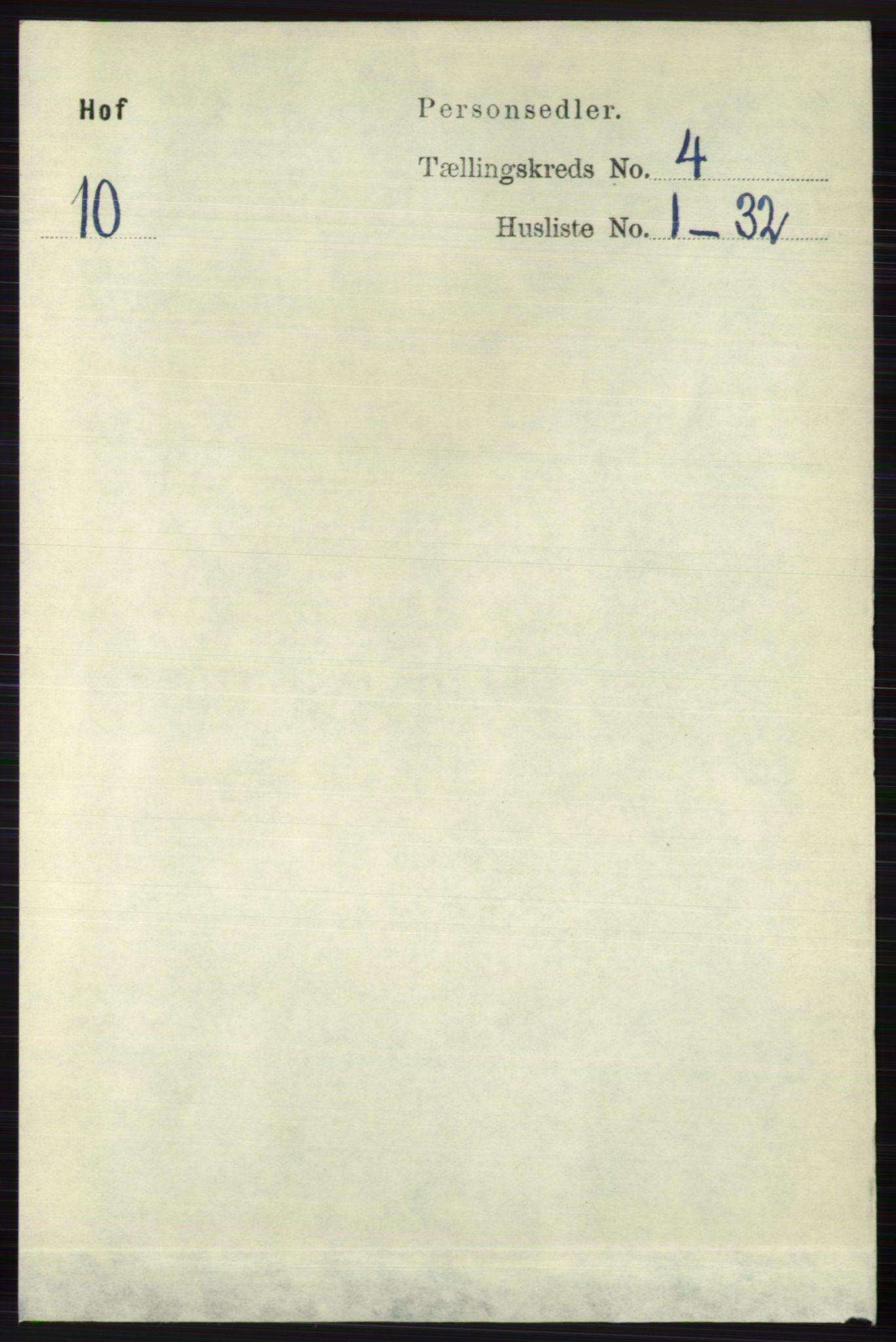 RA, Folketelling 1891 for 0714 Hof herred, 1891, s. 1129