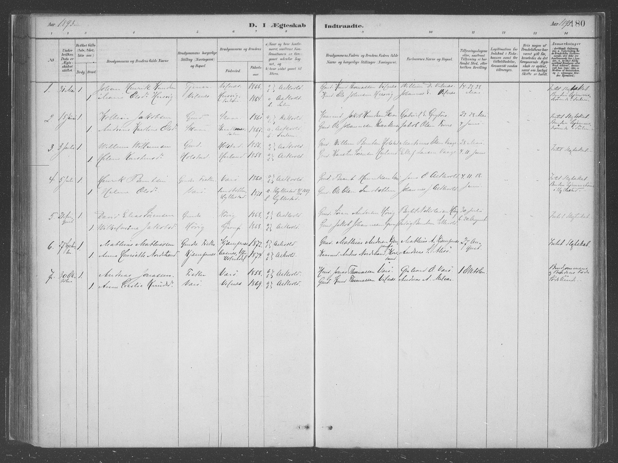 SAB, Askvoll Sokneprestembete, Ministerialbok nr. C  1, 1879-1922, s. 180