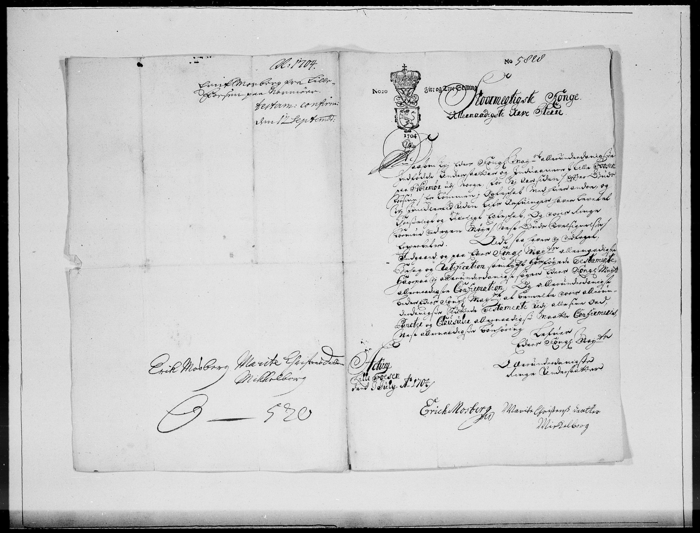 RA, Danske Kanselli 1572-1799, F/Fc/Fcc/Fcca/L0057: Norske innlegg 1572-1799, 1704, s. 227