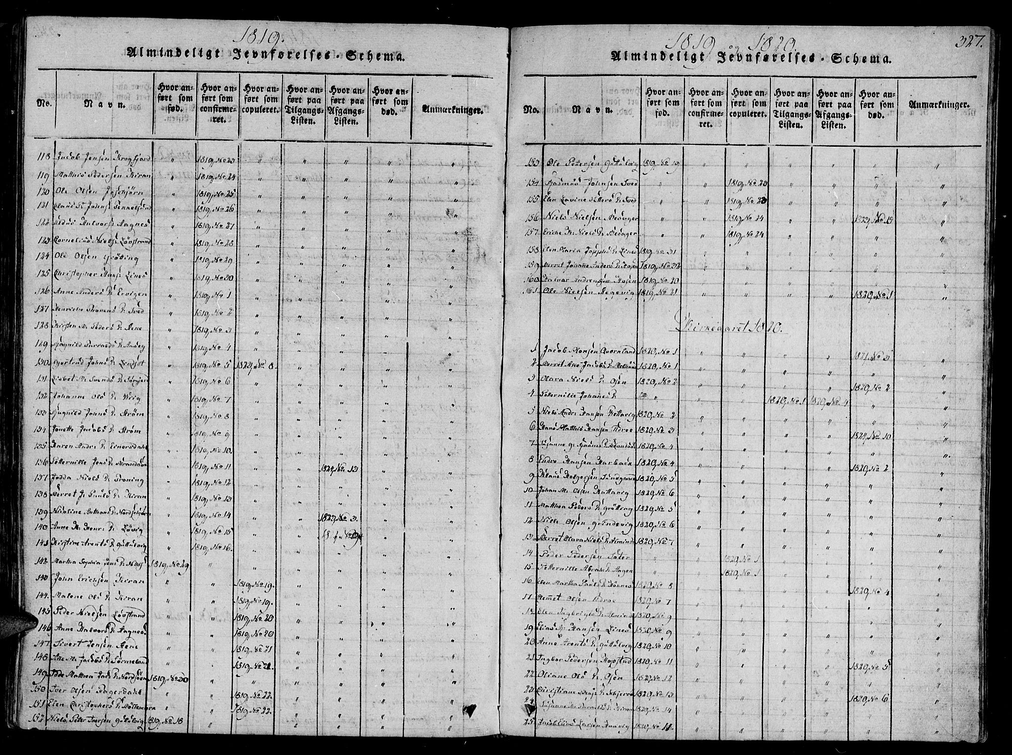 SAT, Ministerialprotokoller, klokkerbøker og fødselsregistre - Sør-Trøndelag, 657/L0702: Ministerialbok nr. 657A03, 1818-1831, s. 327
