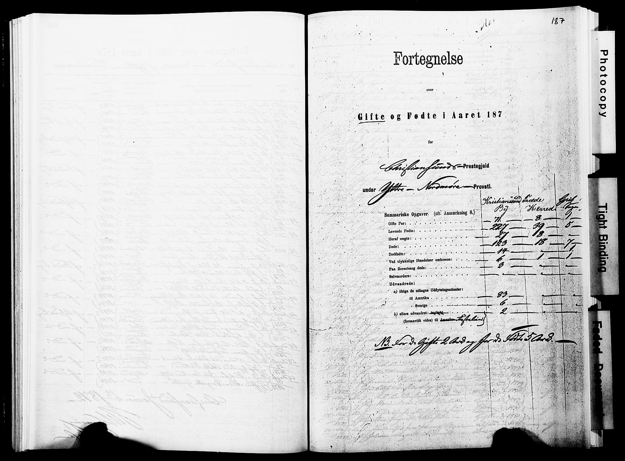 SAT, Ministerialprotokoller, klokkerbøker og fødselsregistre - Møre og Romsdal, 572/L0857: Ministerialbok nr. 572D01, 1866-1872, s. 187