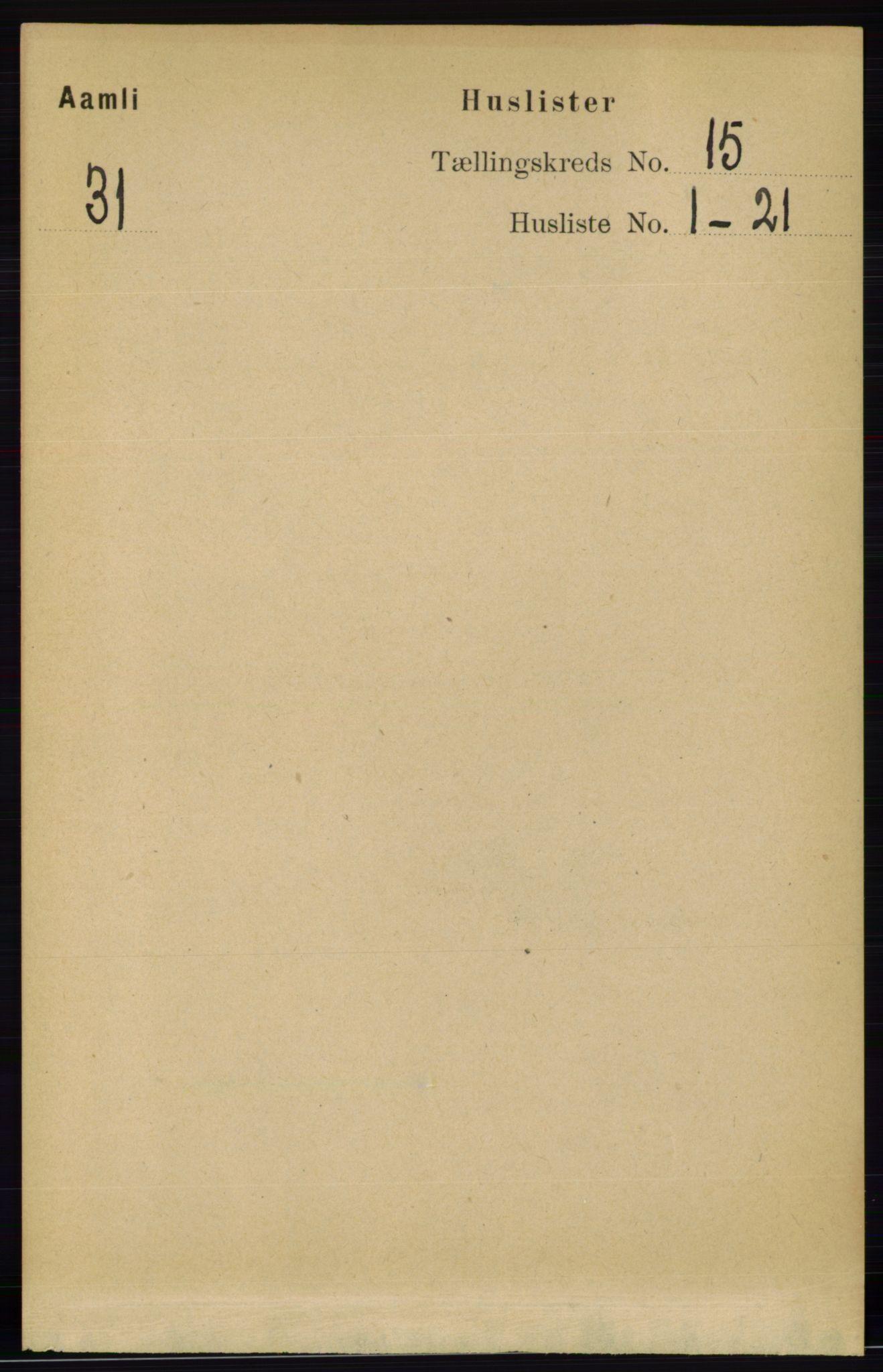 RA, Folketelling 1891 for 0929 Åmli herred, 1891, s. 2518