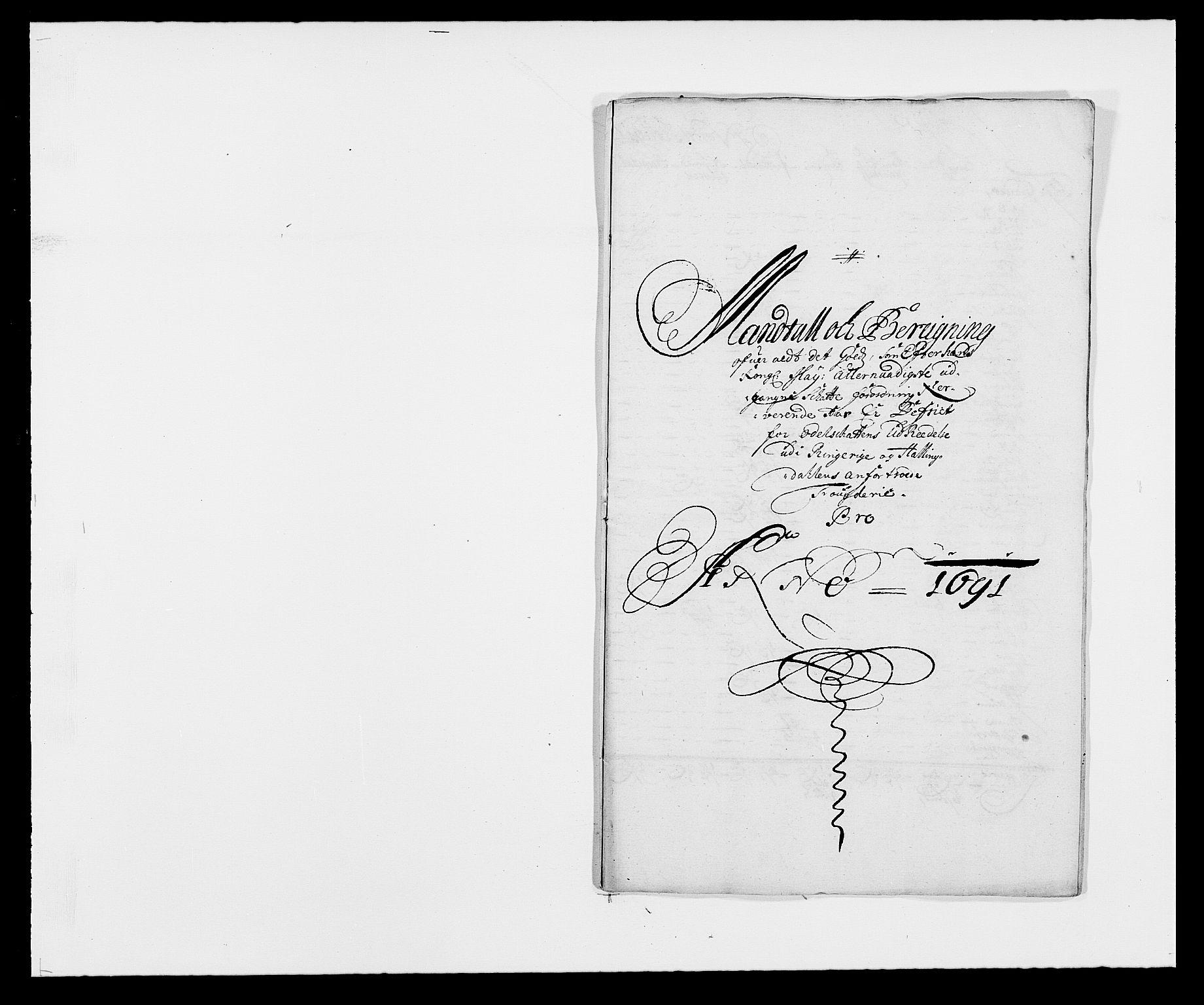RA, Rentekammeret inntil 1814, Reviderte regnskaper, Fogderegnskap, R21/L1448: Fogderegnskap Ringerike og Hallingdal, 1690-1692, s. 344