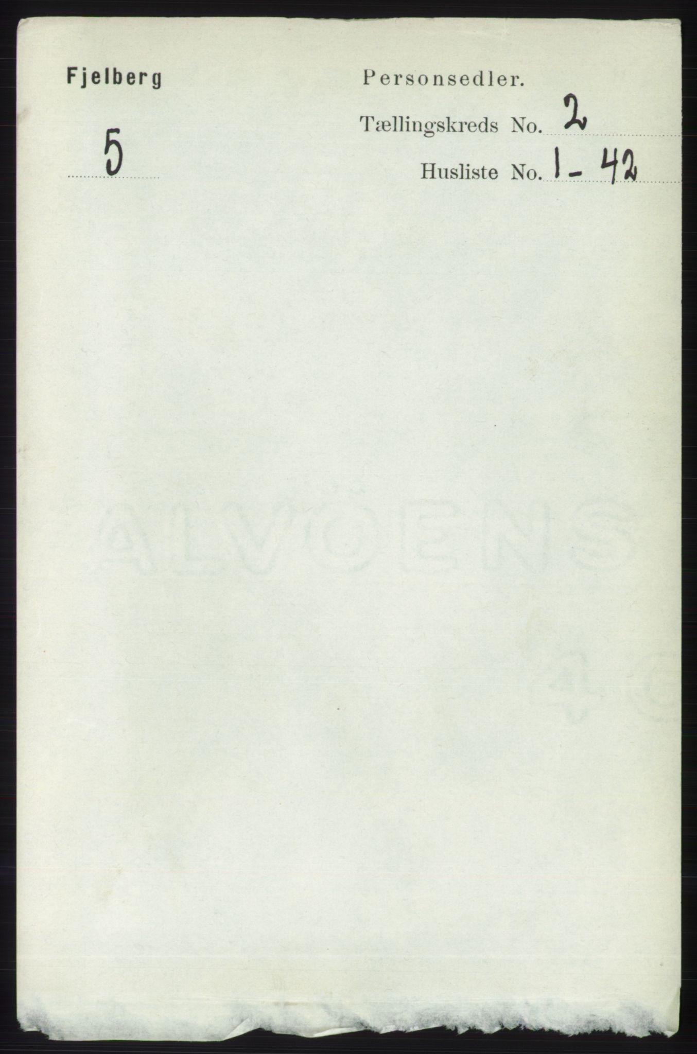 RA, Folketelling 1891 for 1213 Fjelberg herred, 1891, s. 501