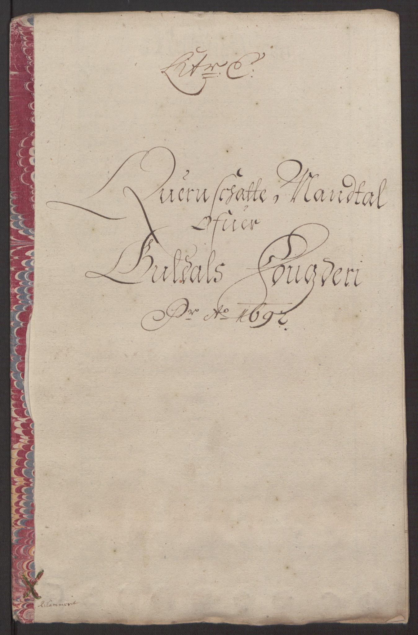 RA, Rentekammeret inntil 1814, Reviderte regnskaper, Fogderegnskap, R59/L3942: Fogderegnskap Gauldal, 1692, s. 91