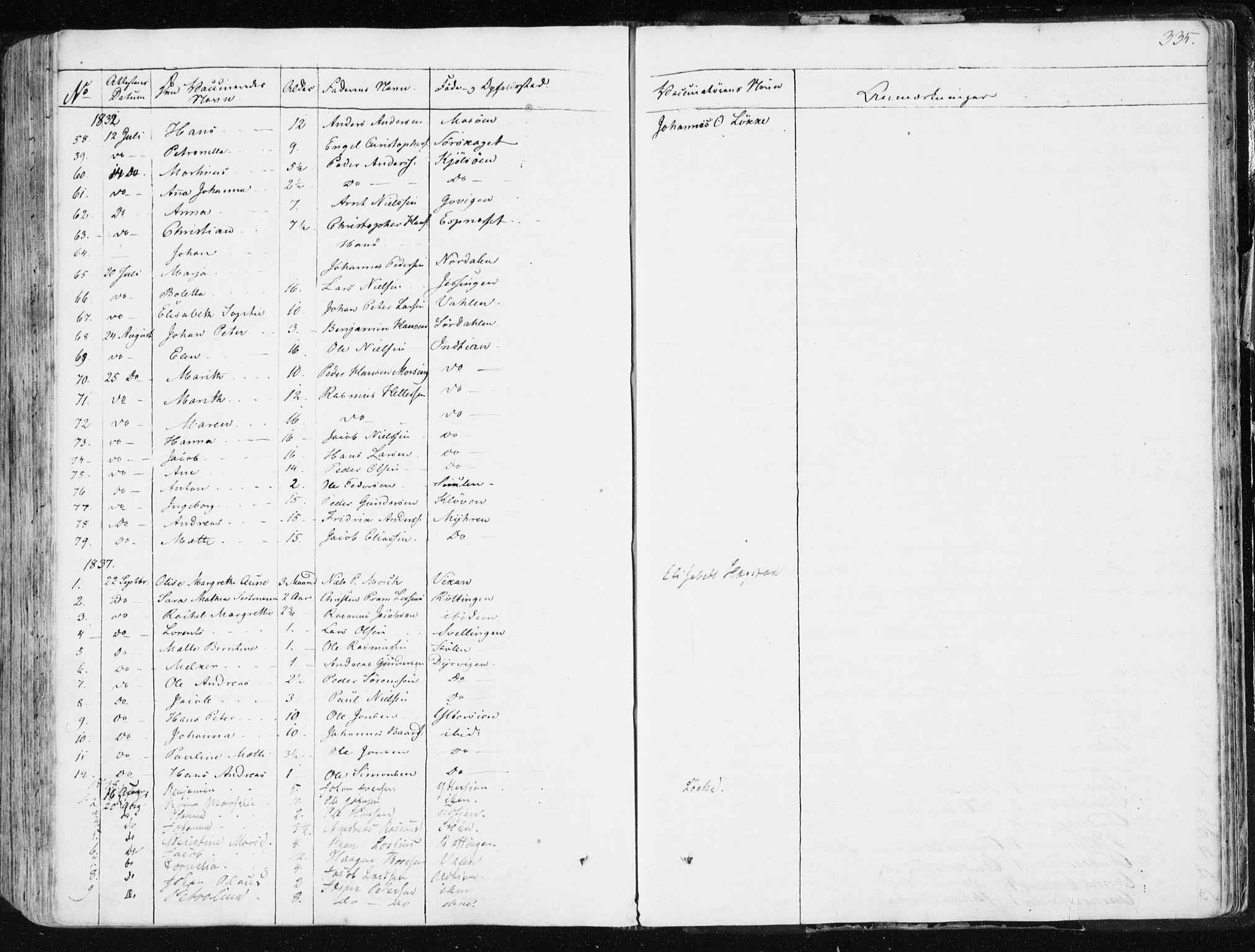 SAT, Ministerialprotokoller, klokkerbøker og fødselsregistre - Sør-Trøndelag, 634/L0528: Ministerialbok nr. 634A04, 1827-1842, s. 335