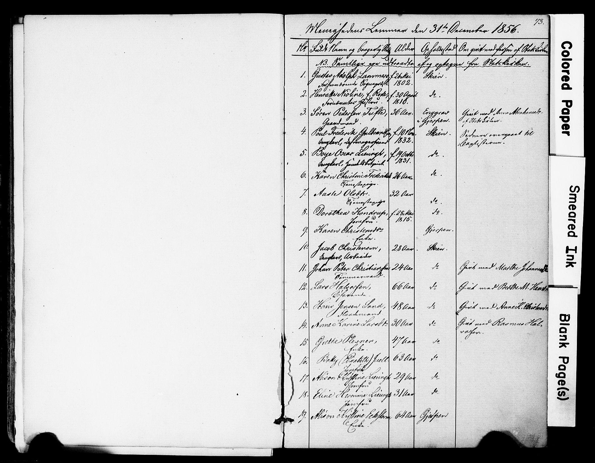 SAKO, Den frie apostolisk-kristelige menighet i Skien, F/Fa/L0001: Dissenterprotokoll nr. 1, 1856-1892, s. 73