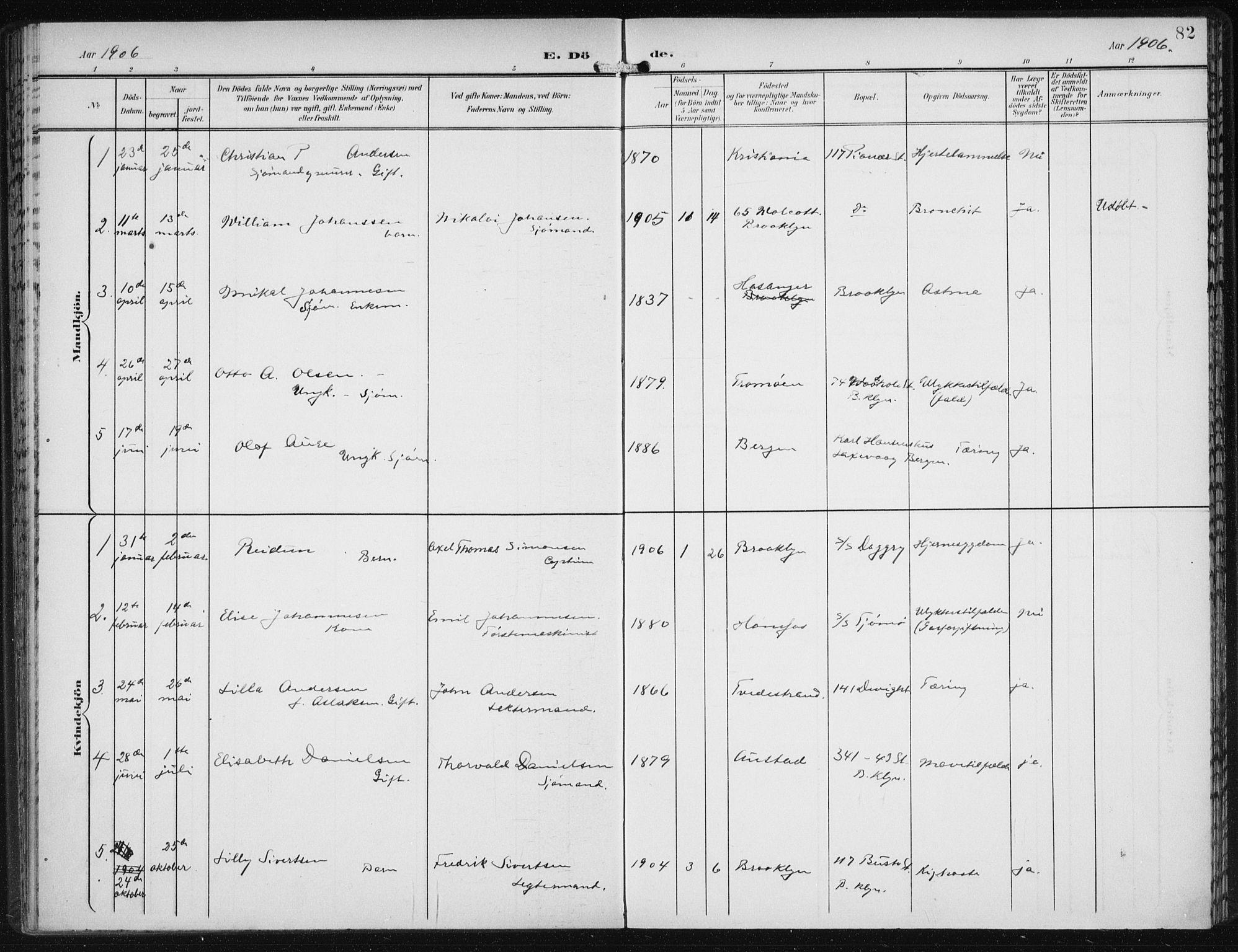 SAB, Den Norske Sjømannsmisjon i utlandet*, Ministerialbok nr. A 5, 1902-1908, s. 82