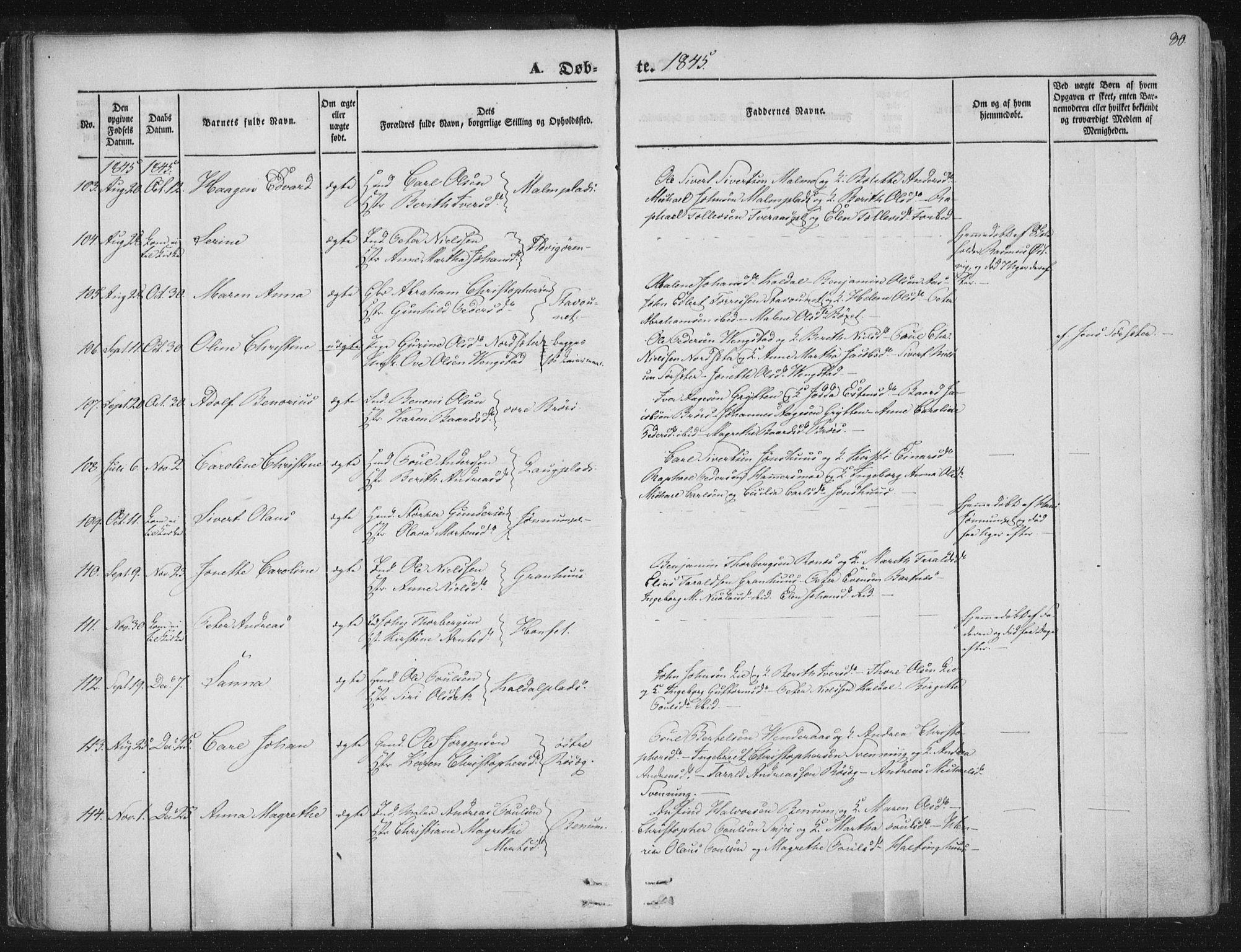 SAT, Ministerialprotokoller, klokkerbøker og fødselsregistre - Nord-Trøndelag, 741/L0392: Ministerialbok nr. 741A06, 1836-1848, s. 80