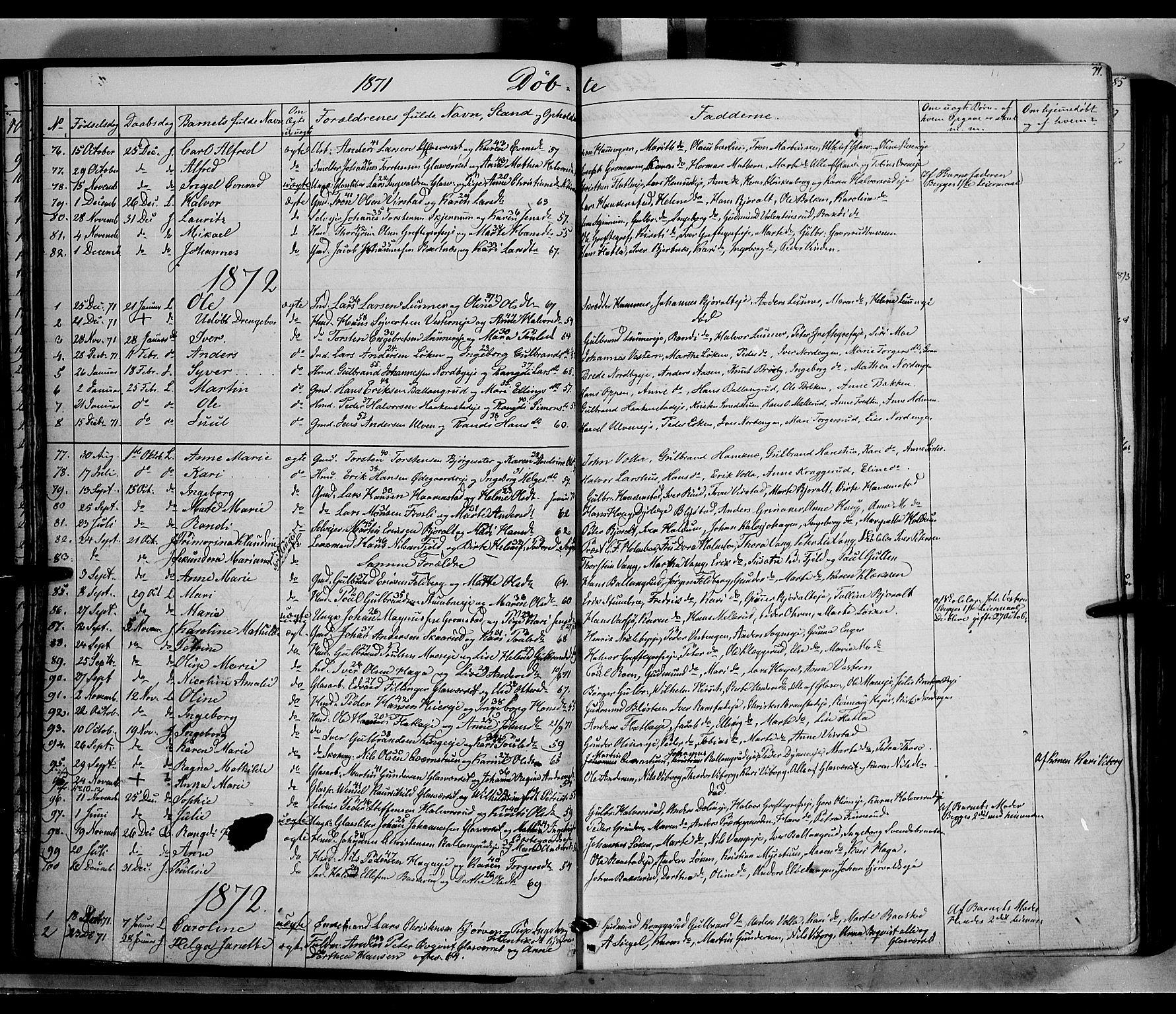 SAH, Jevnaker prestekontor, Ministerialbok nr. 7, 1858-1876, s. 71