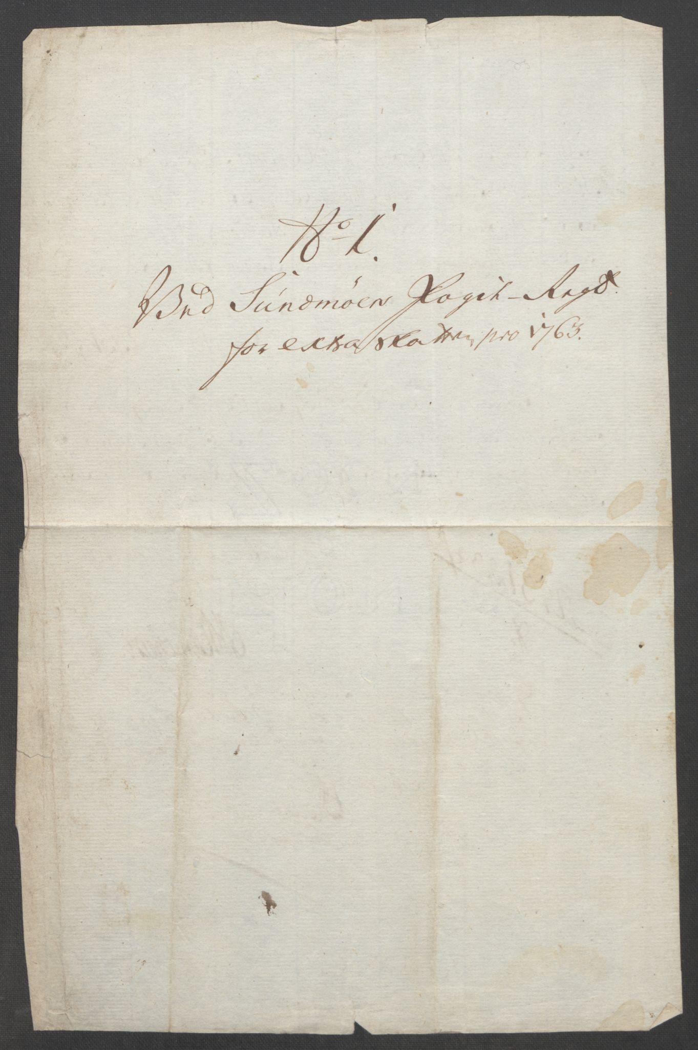 RA, Rentekammeret inntil 1814, Reviderte regnskaper, Fogderegnskap, R54/L3645: Ekstraskatten Sunnmøre, 1762-1772, s. 29