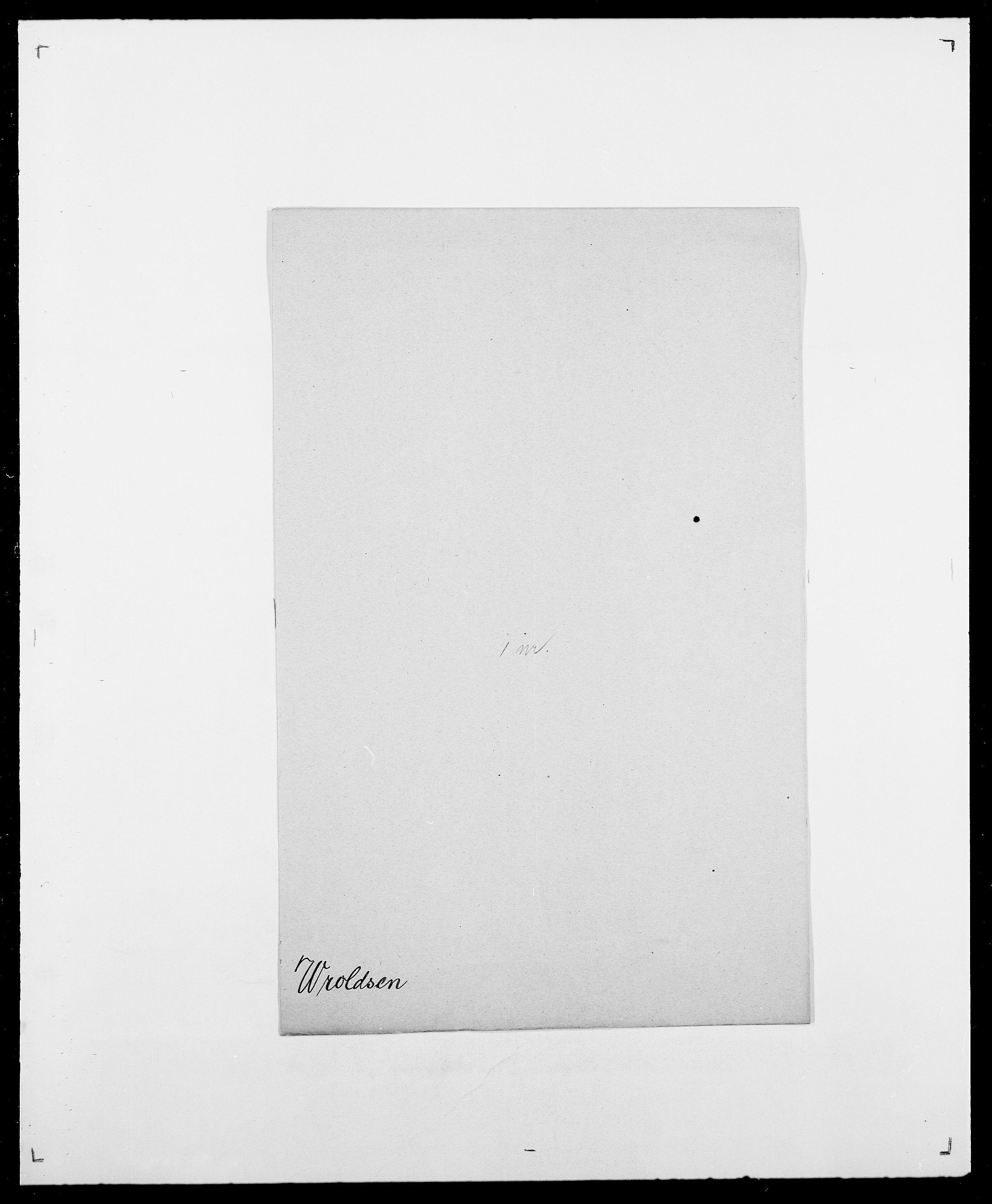 SAO, Delgobe, Charles Antoine - samling, D/Da/L0042: Vilain - Wulf, Wulff, se også Wolf, s. 788