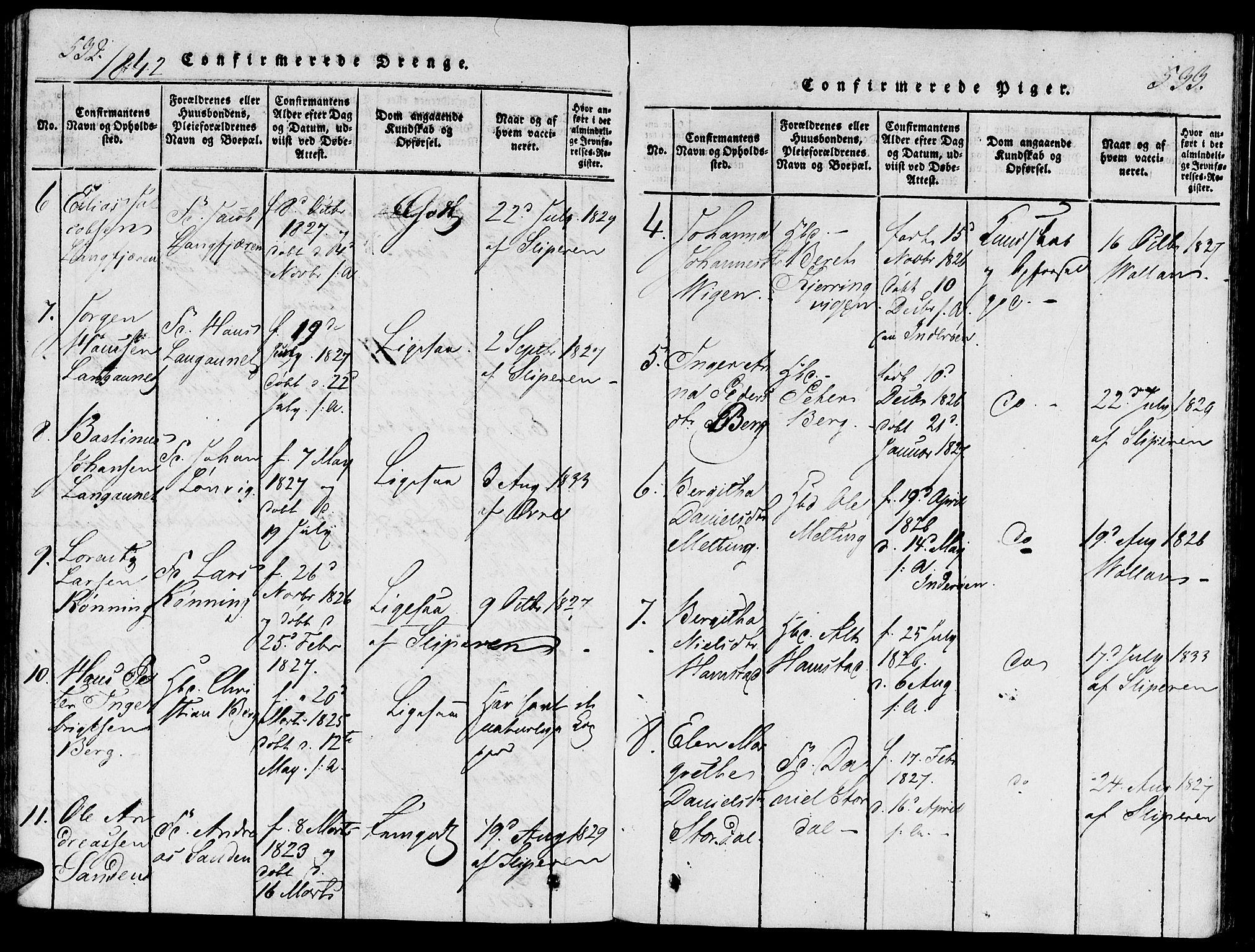 SAT, Ministerialprotokoller, klokkerbøker og fødselsregistre - Nord-Trøndelag, 733/L0322: Ministerialbok nr. 733A01, 1817-1842, s. 532-533