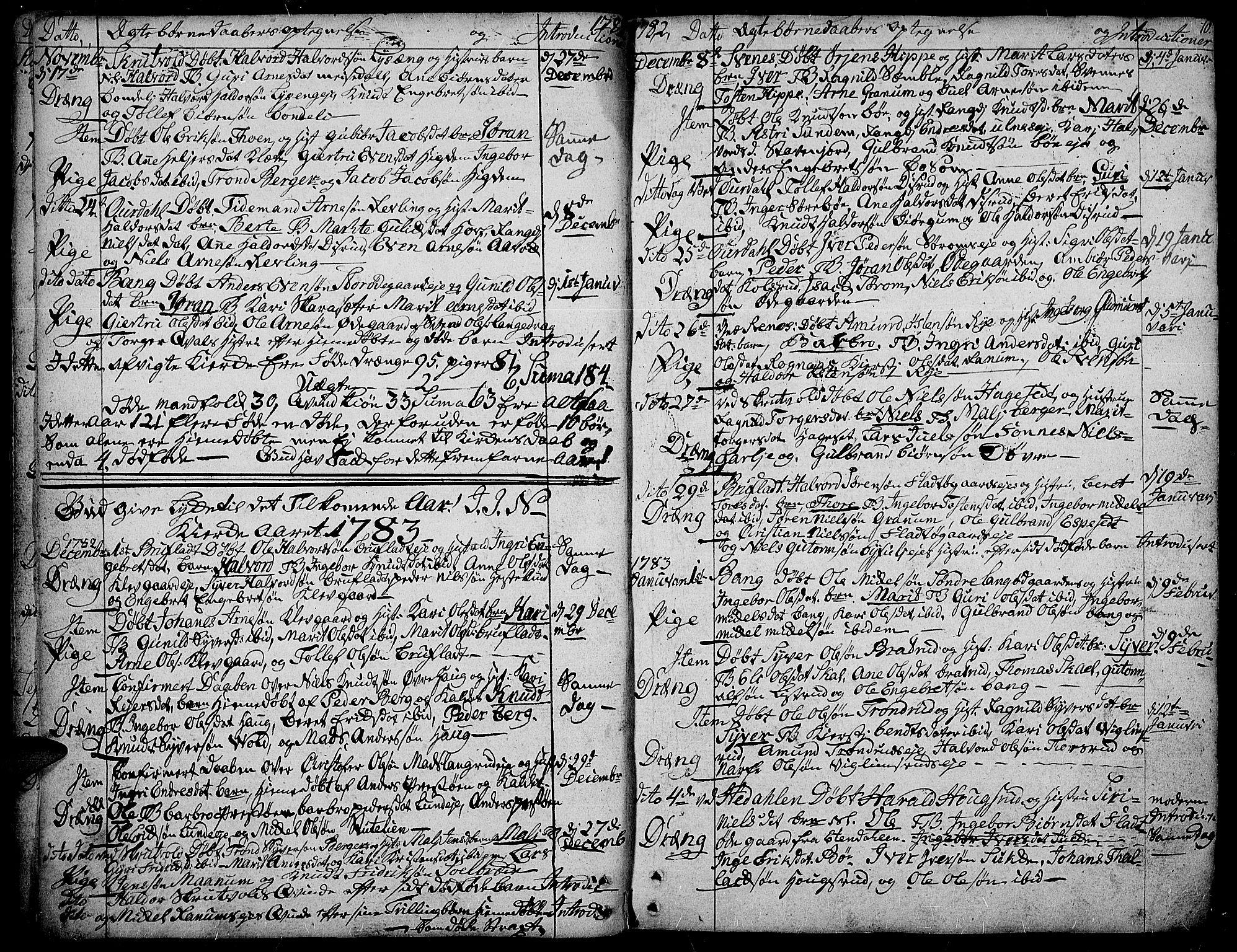 SAH, Aurdal prestekontor, Ministerialbok nr. 6, 1781-1804, s. 10