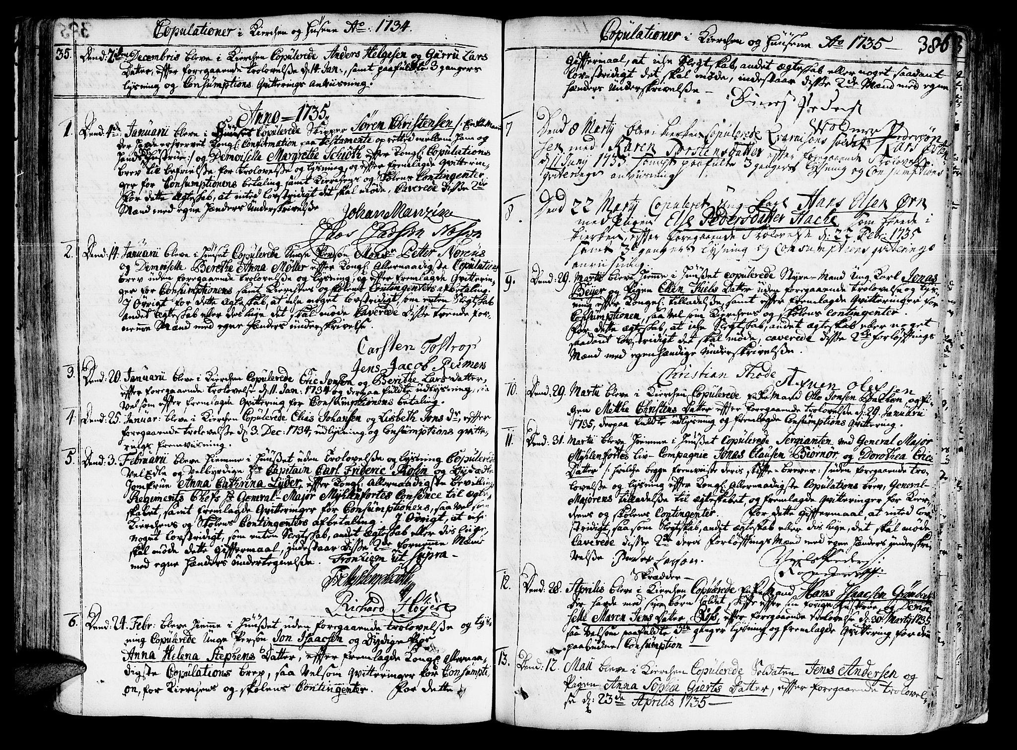 SAT, Ministerialprotokoller, klokkerbøker og fødselsregistre - Sør-Trøndelag, 602/L0103: Ministerialbok nr. 602A01, 1732-1774, s. 386