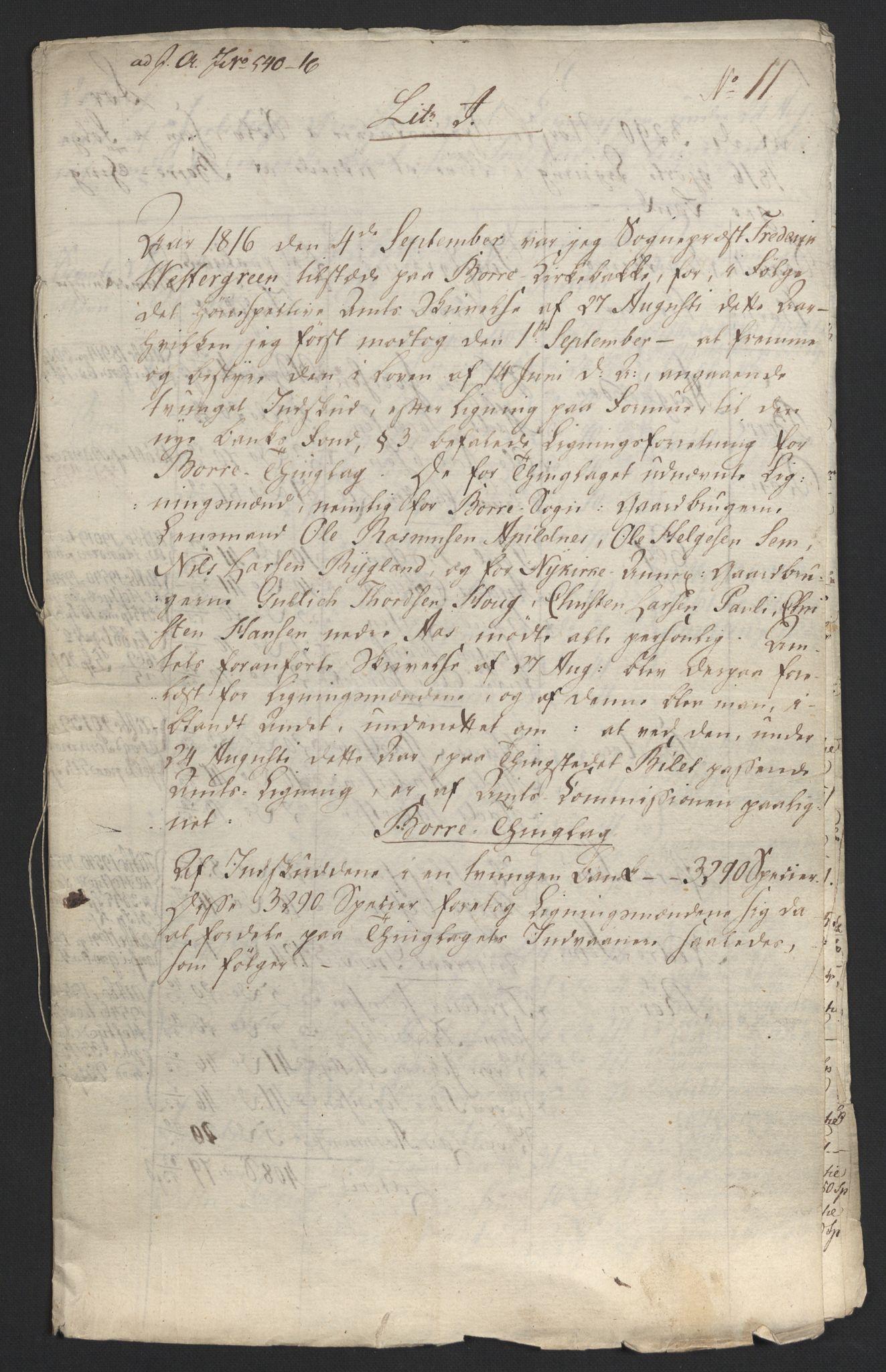 NOBA, Norges Bank/Sølvskatten 1816*, 1816-1824, s. 132