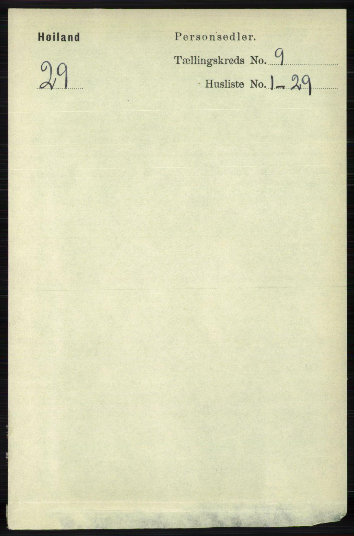 RA, Folketelling 1891 for 1123 Høyland herred, 1891, s. 3548