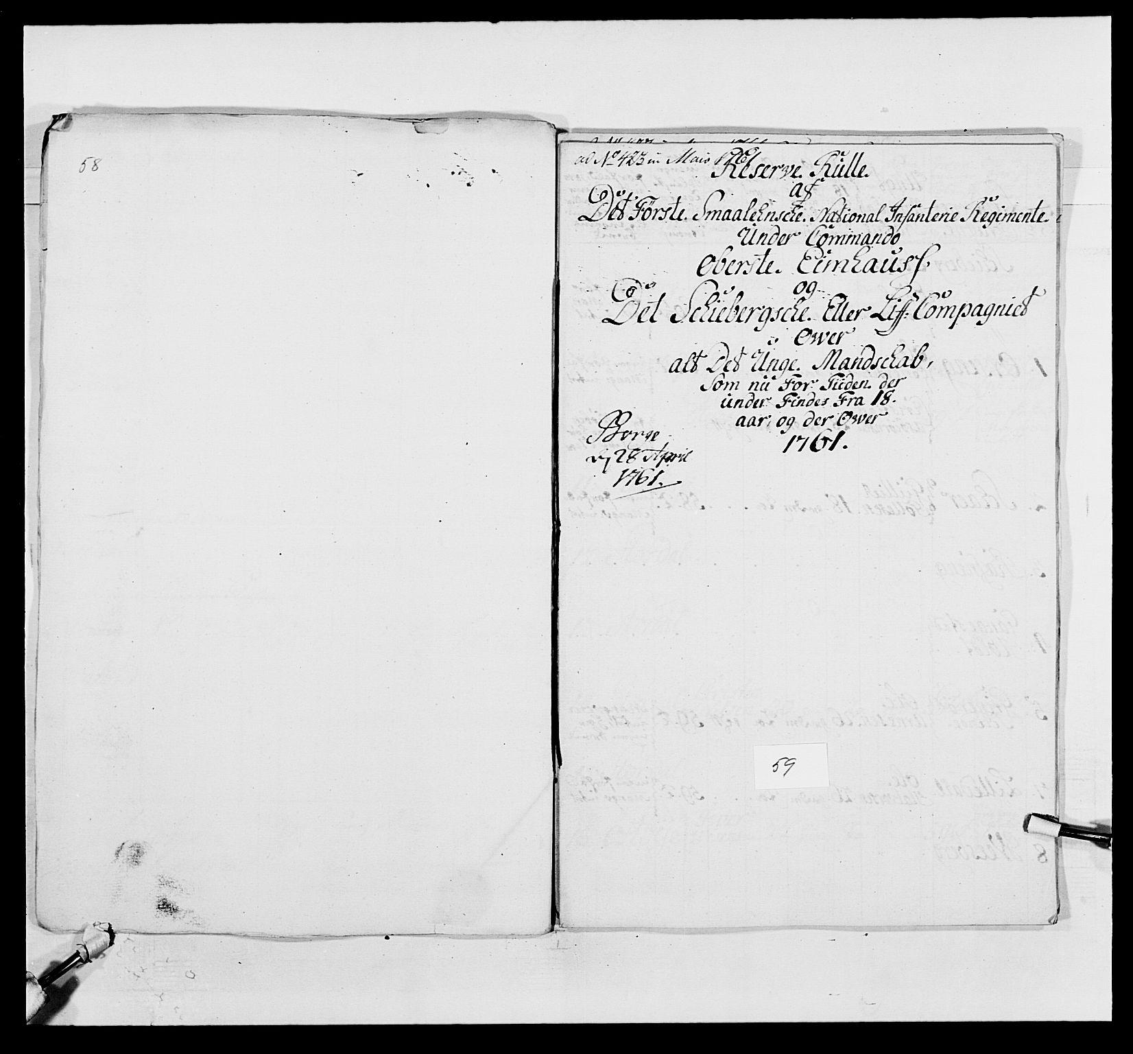 RA, Kommanderende general (KG I) med Det norske krigsdirektorium, E/Ea/L0495: 1. Smålenske regiment, 1732-1763, s. 751